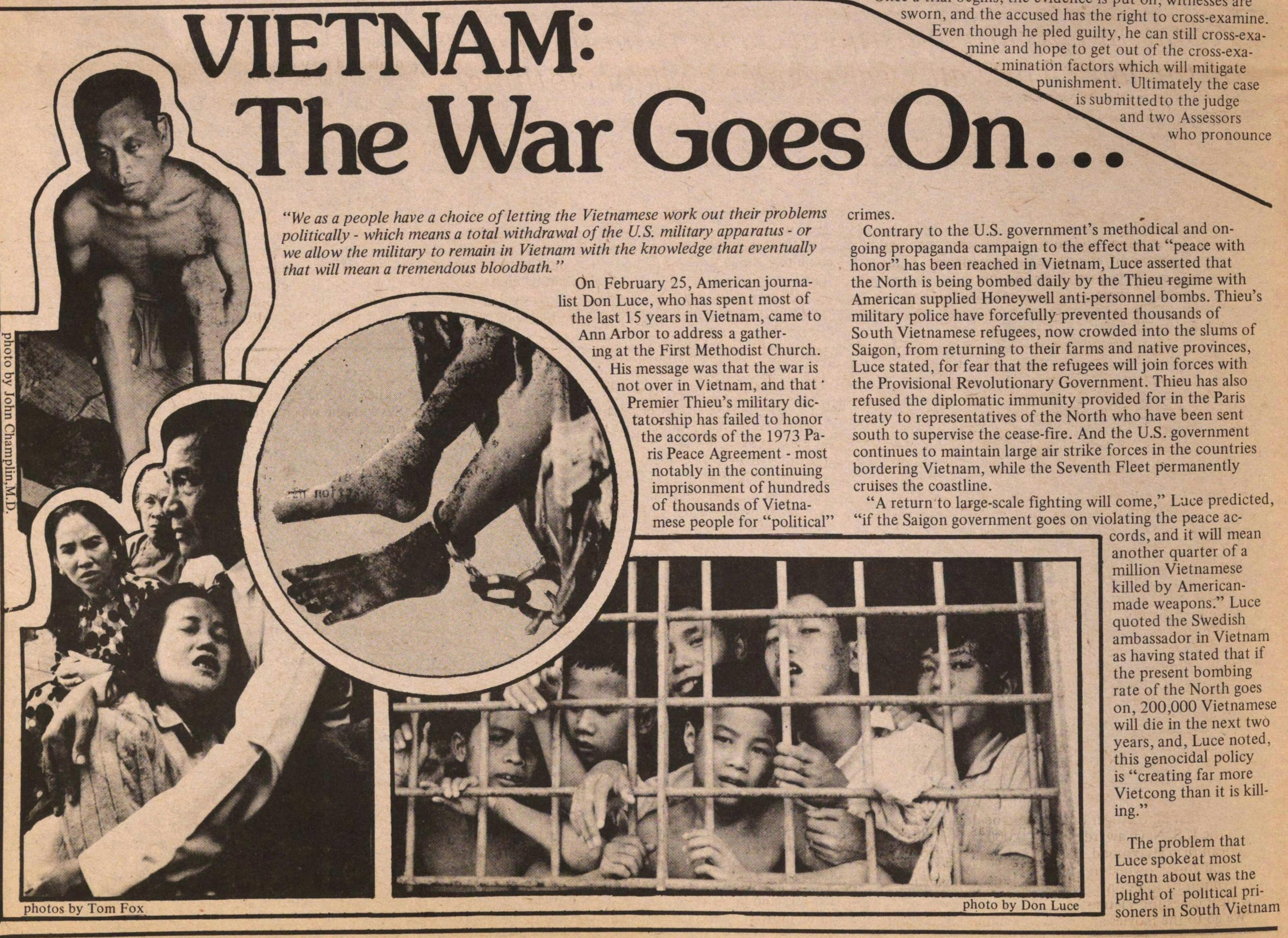 Vietnam The War Goes On... image