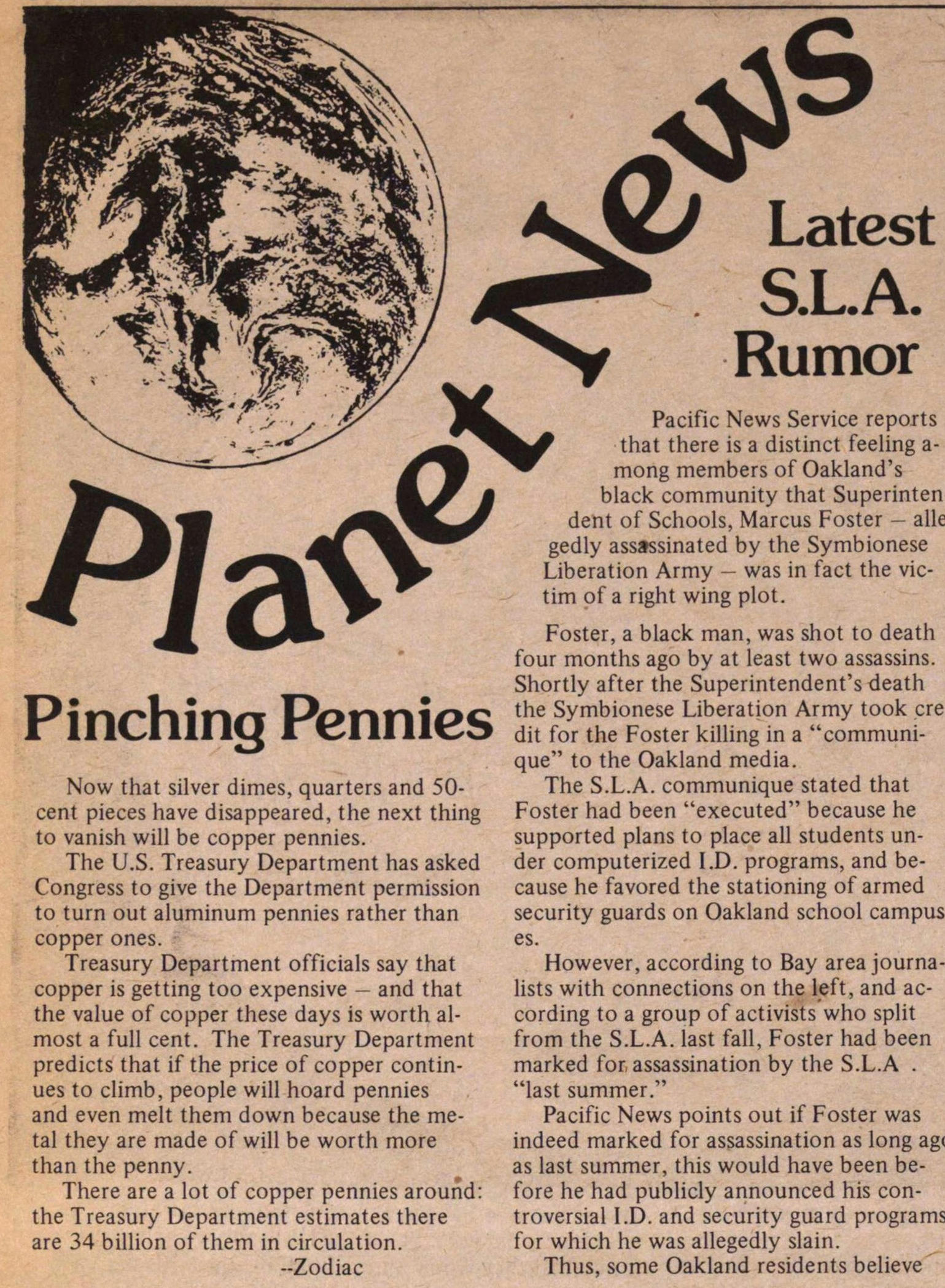 Planet News -- Pinching Pennies image