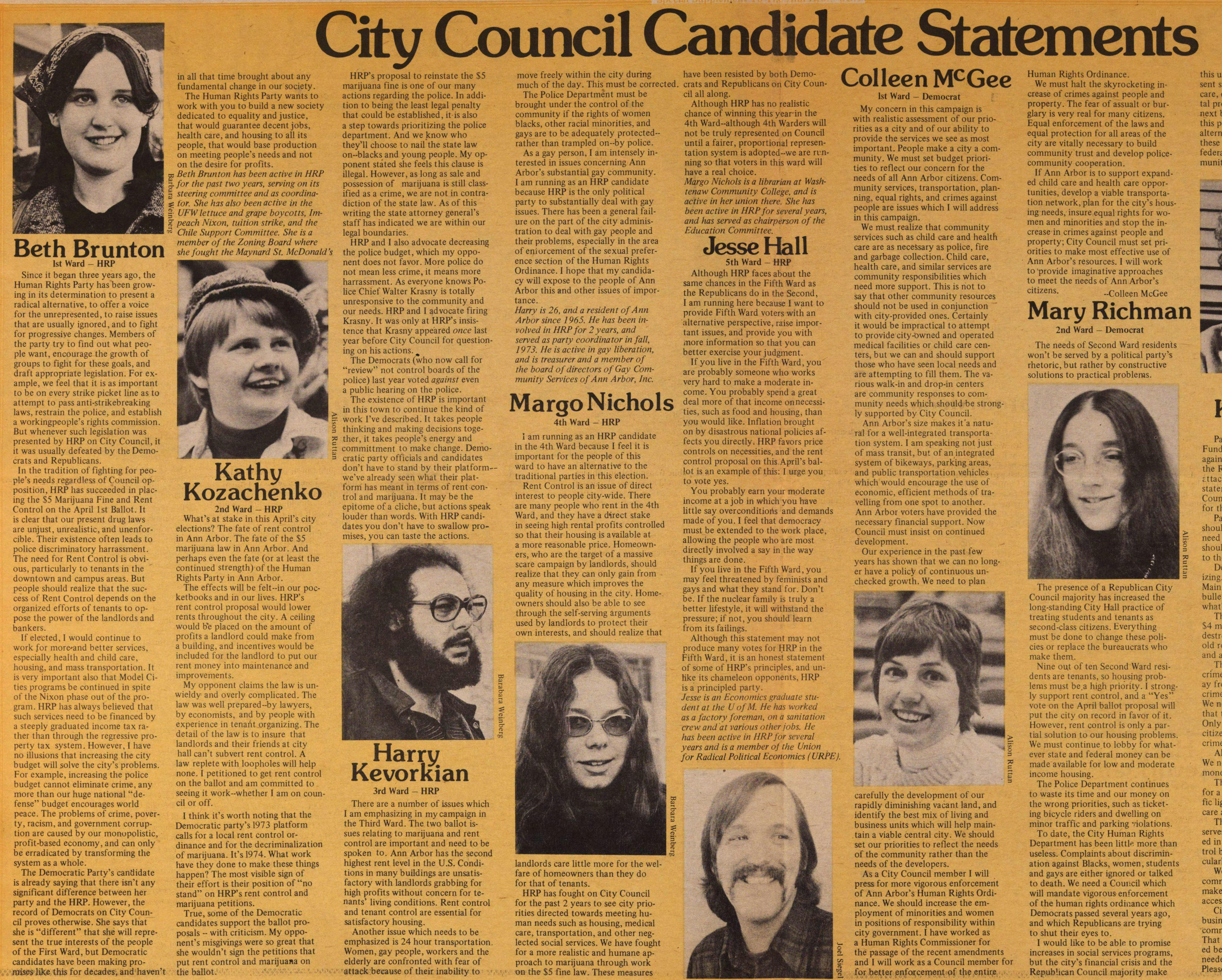 City Council Candidate Statements image