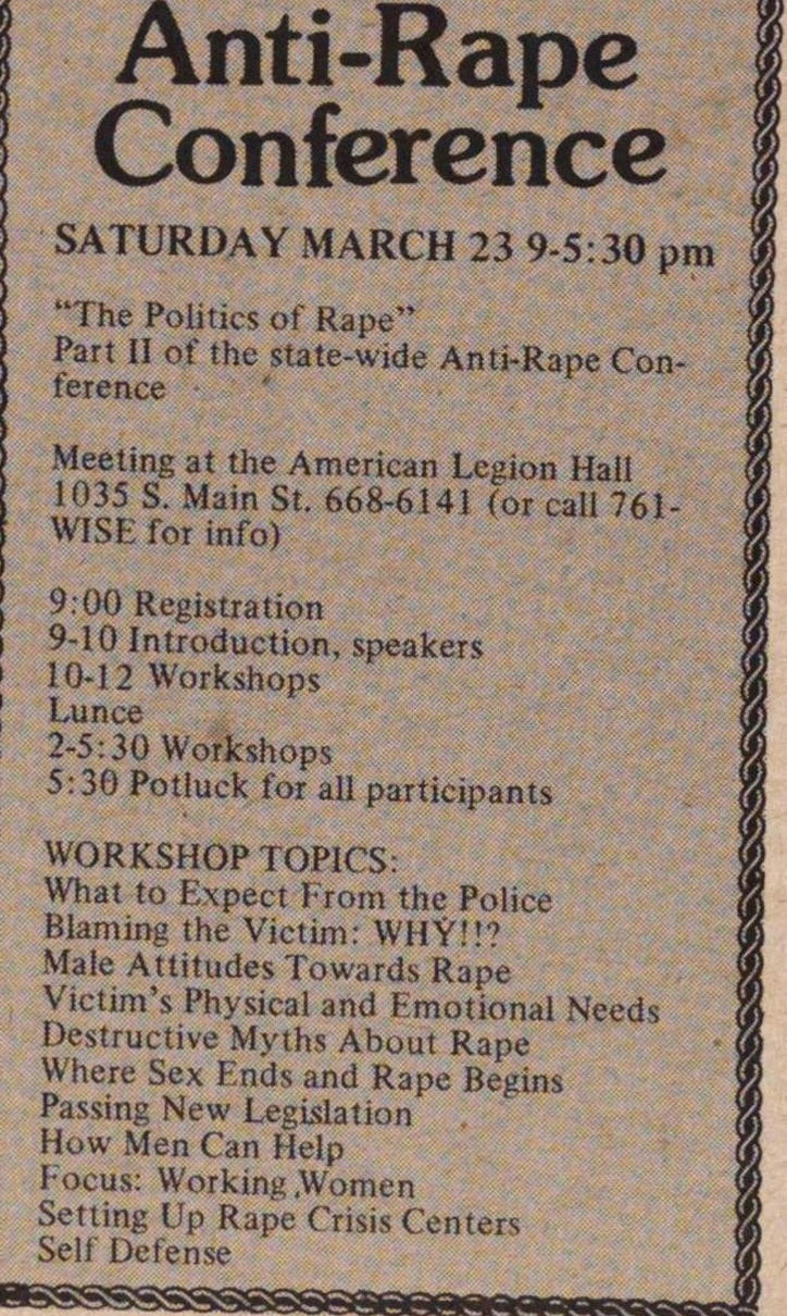 Anti-rape Conference image