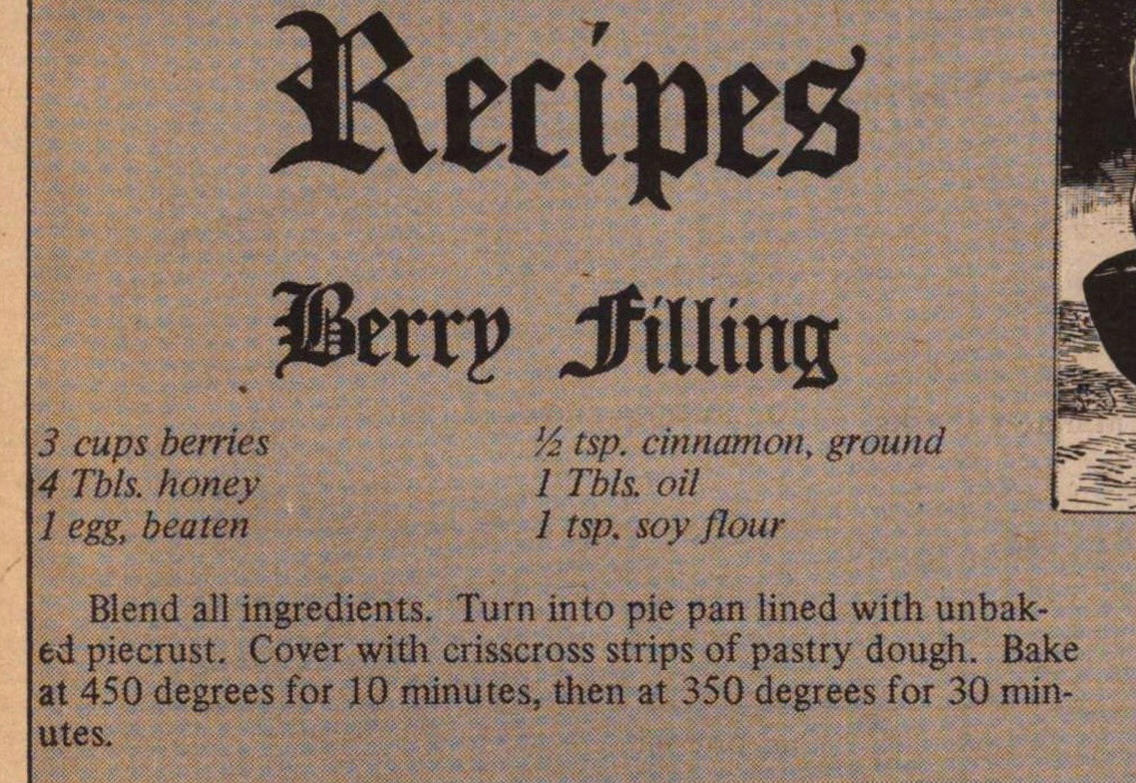 Recipes - Berry Filling image