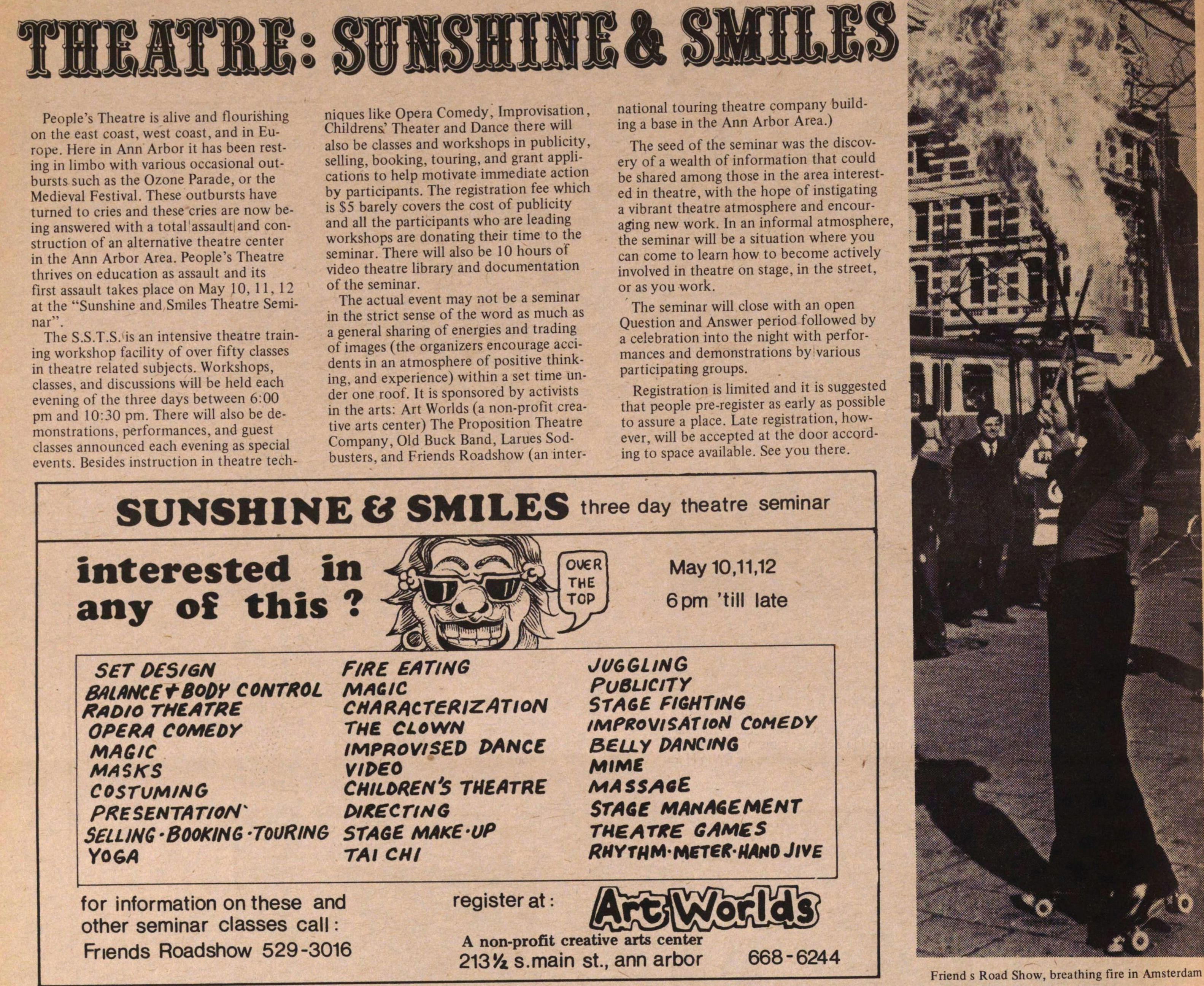 Theatre: Sunshine & Smiles image