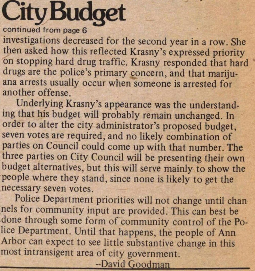 City Budget: Police Rake It In image