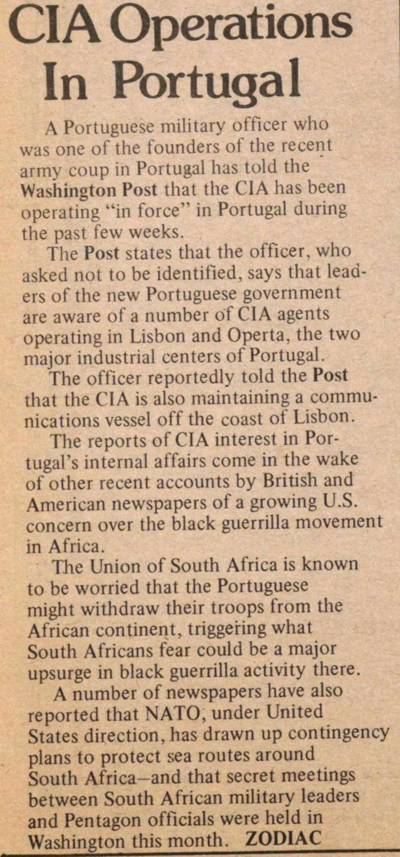 Cia Operations In Portugal image