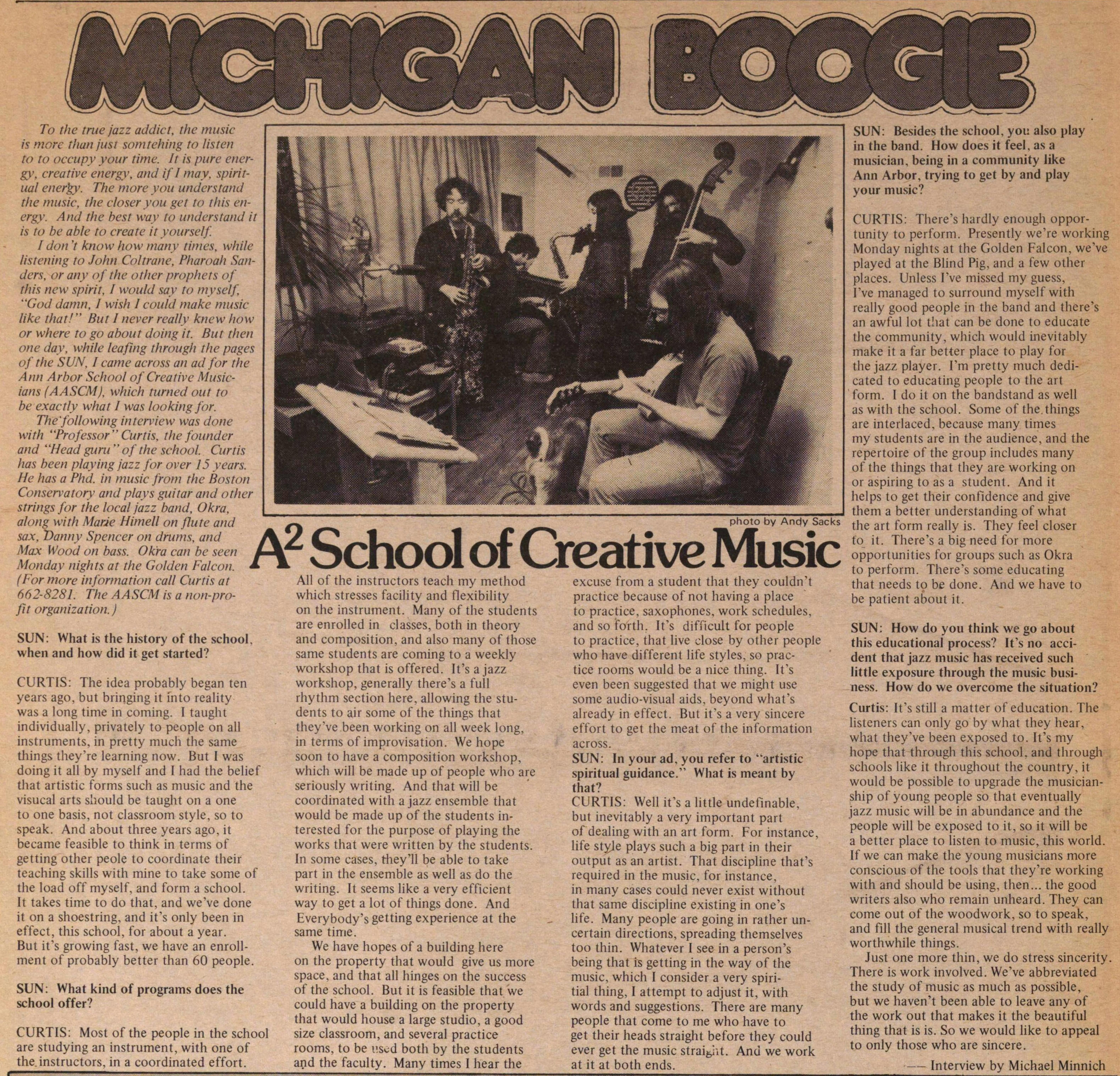 Michigan Boogie A2 School Of Creative Music image