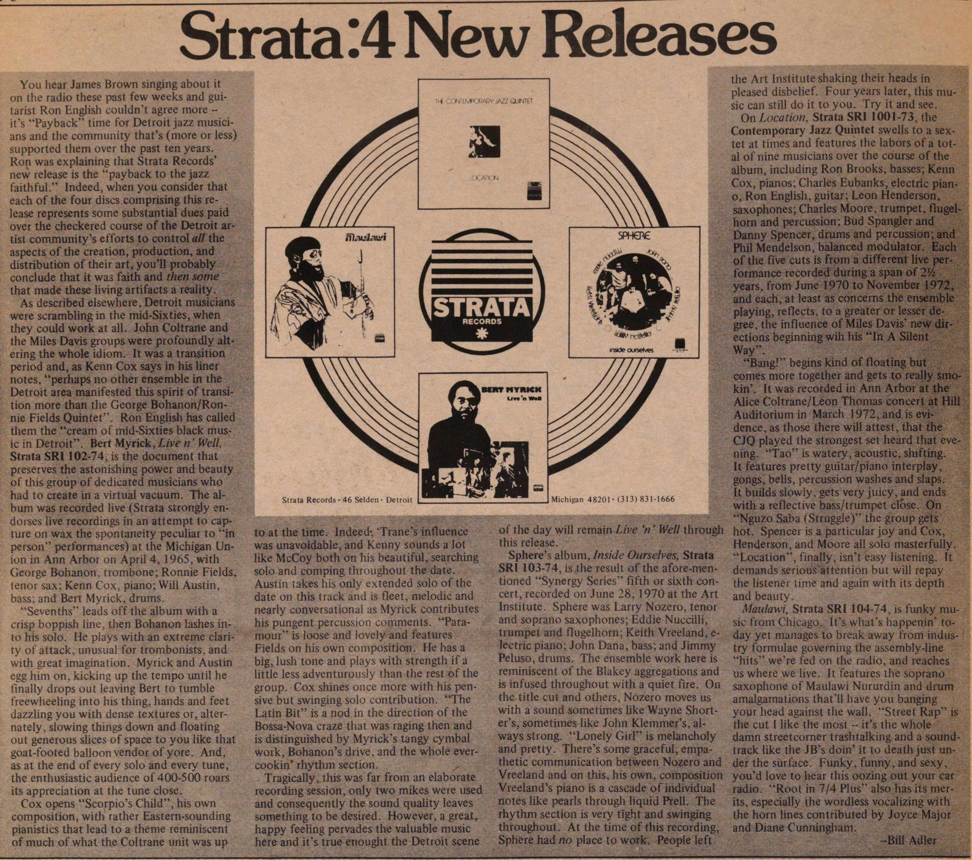 Strata: 4 New Releases image