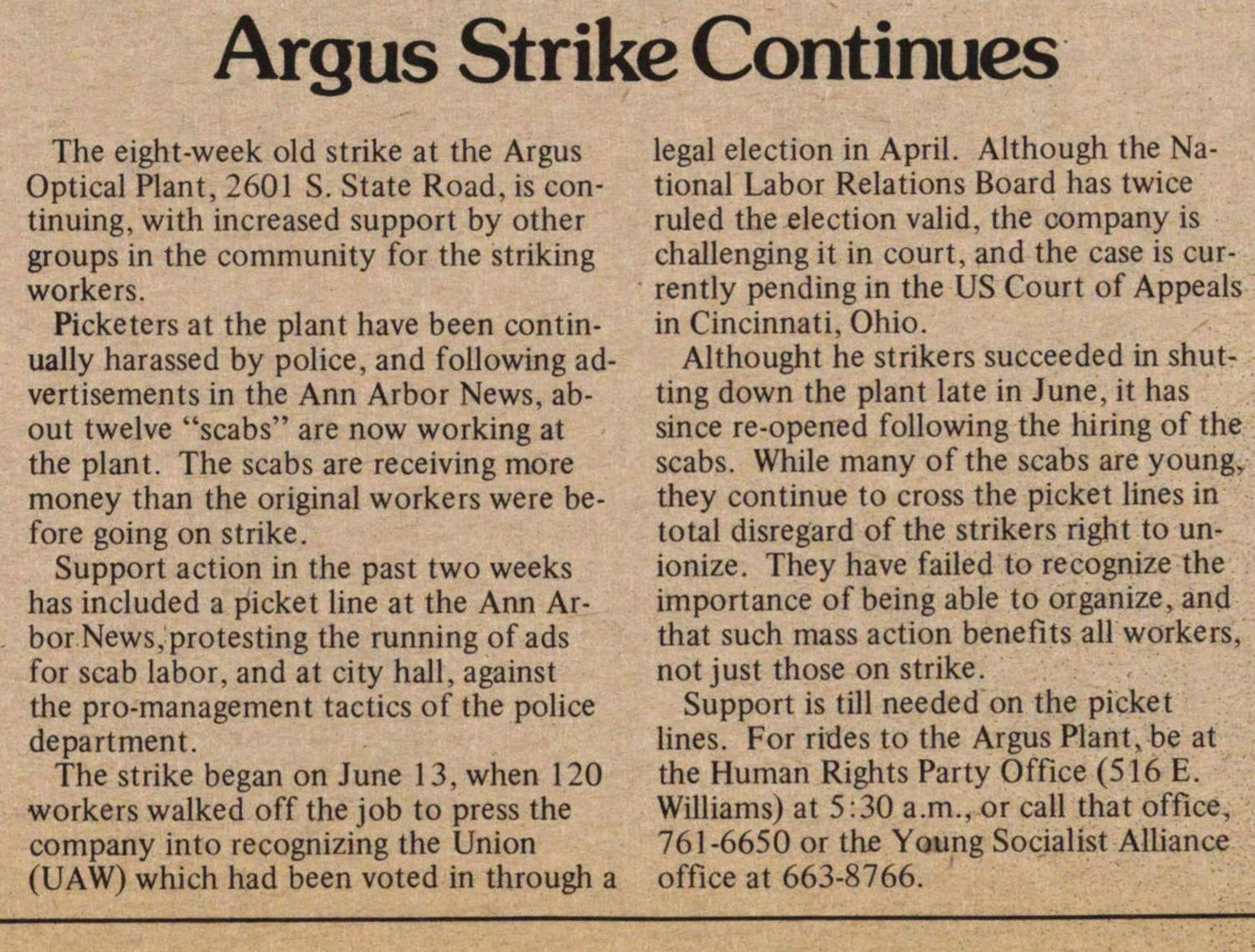 Argus Strike Continues image