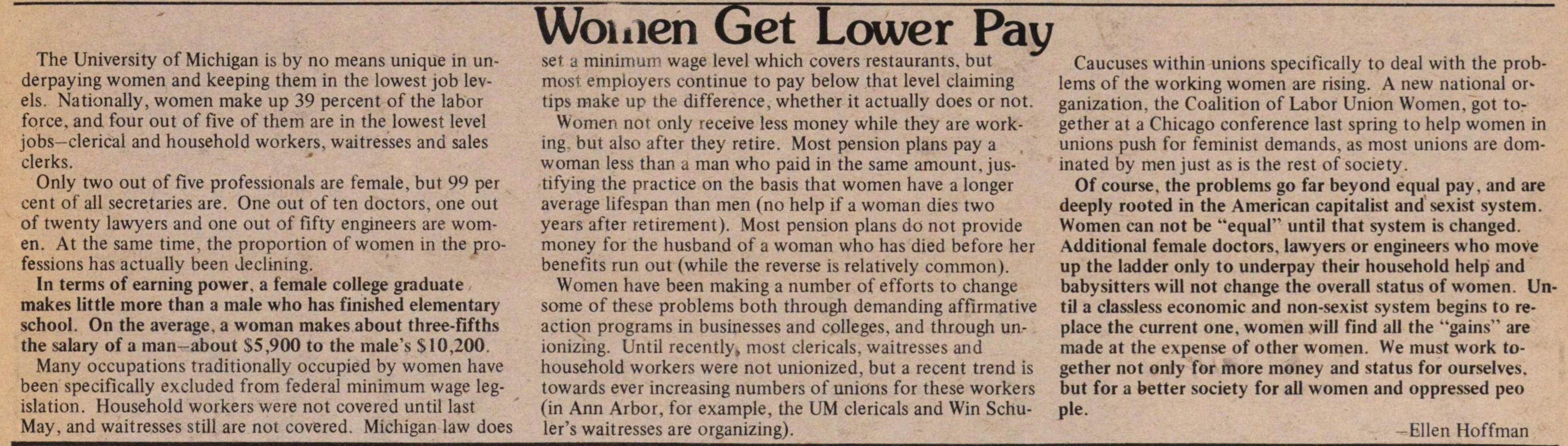 Women Get Lower Pay image