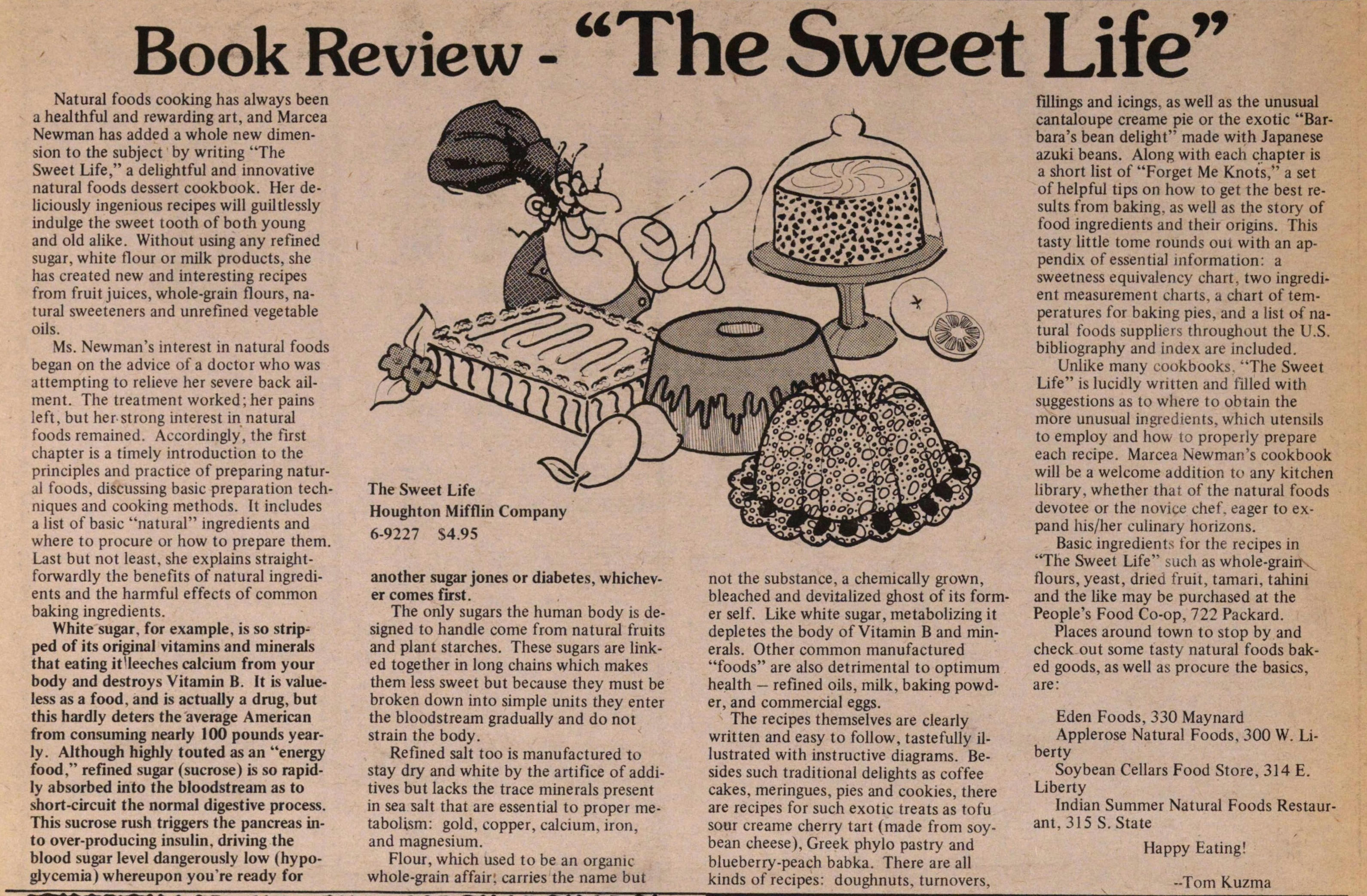 "Book Review - ""the Sweet Life"" image"