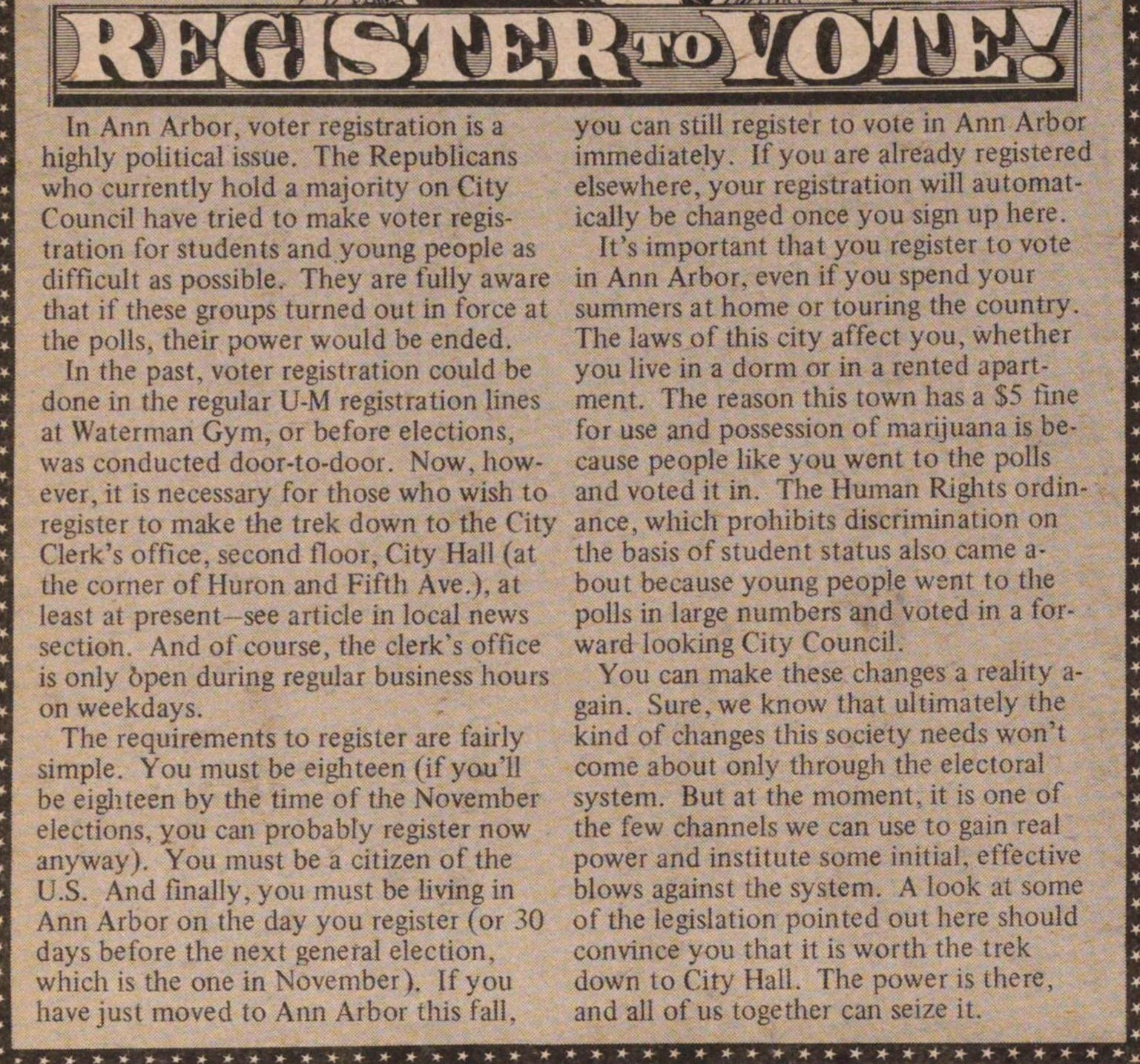 Register To Vote! image