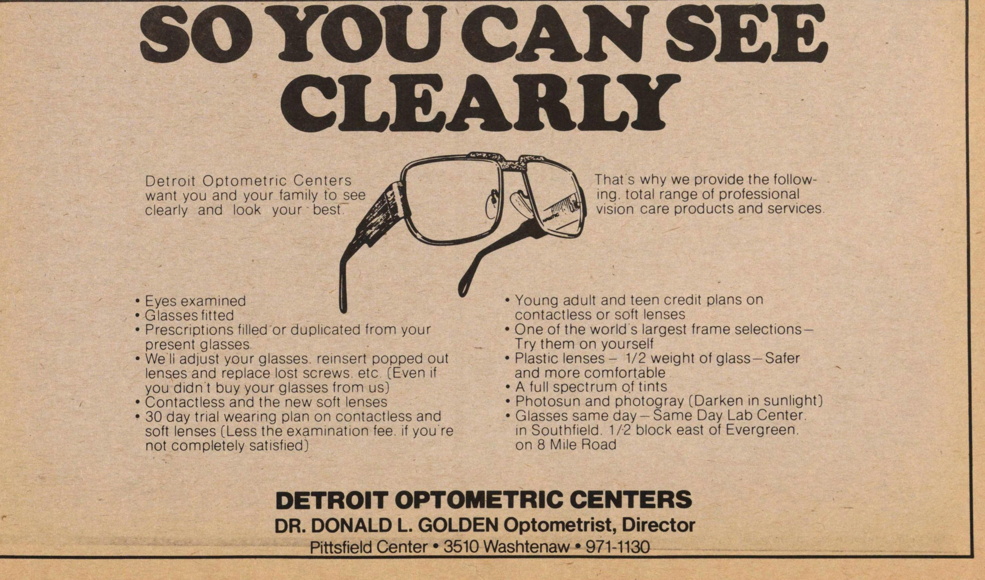 Detroit Optometric Centers image
