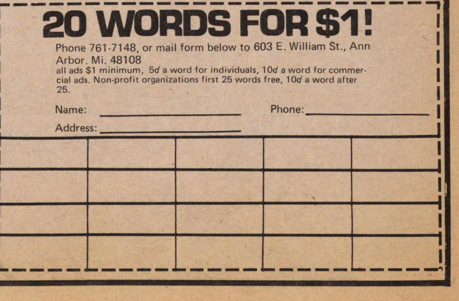 20 Words For $1! image