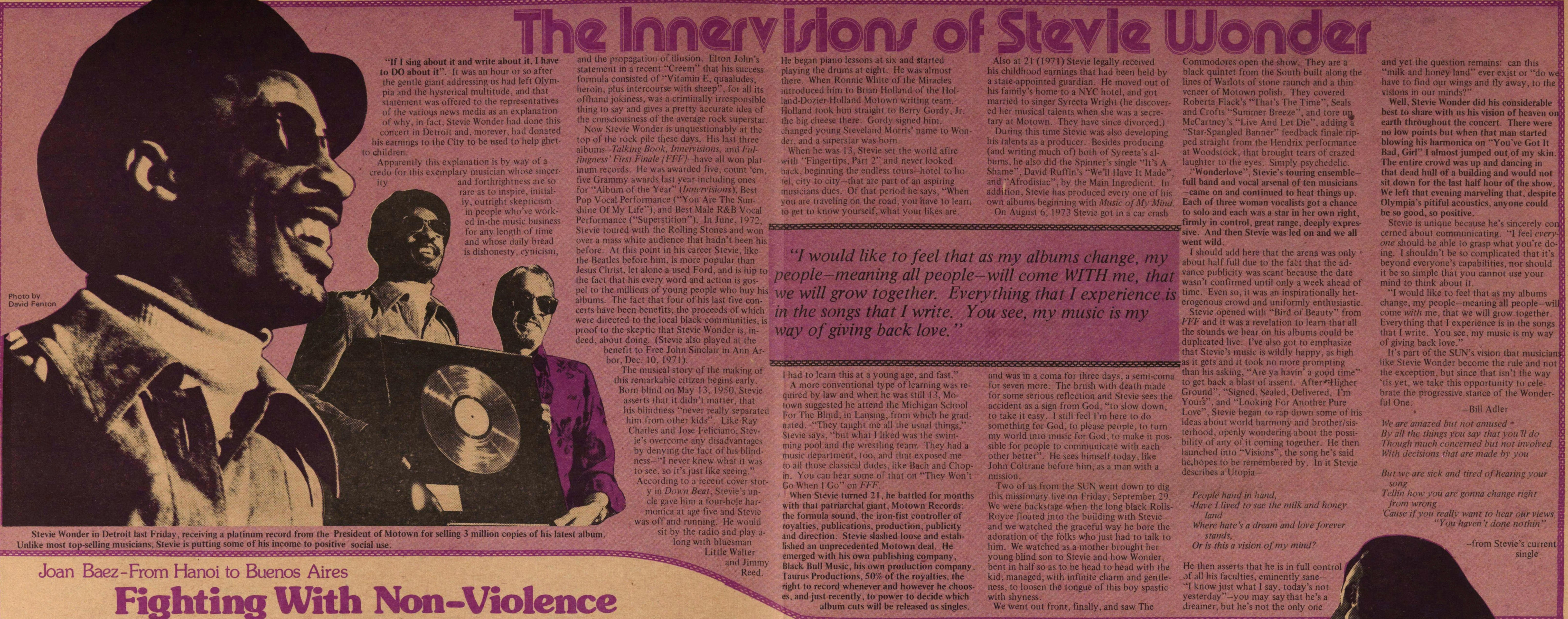 The Innervisions Of Stevie Wonder image