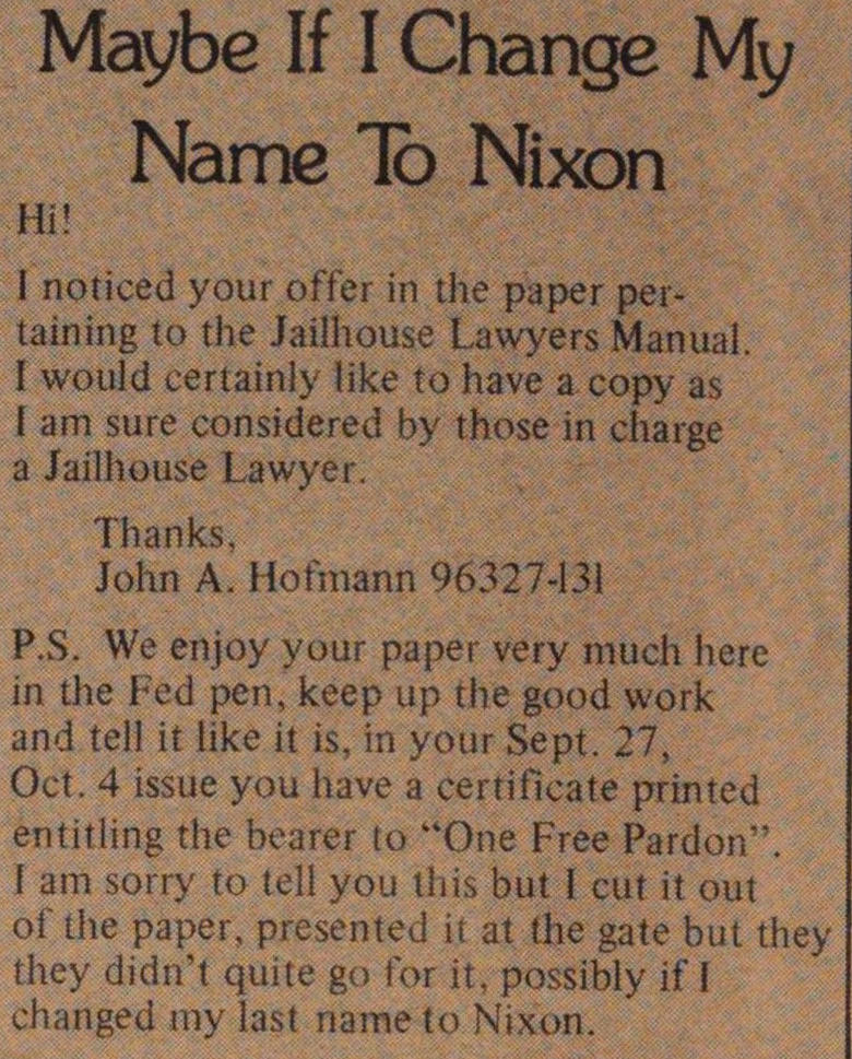 Maybe If I Change My Name To Nixon image