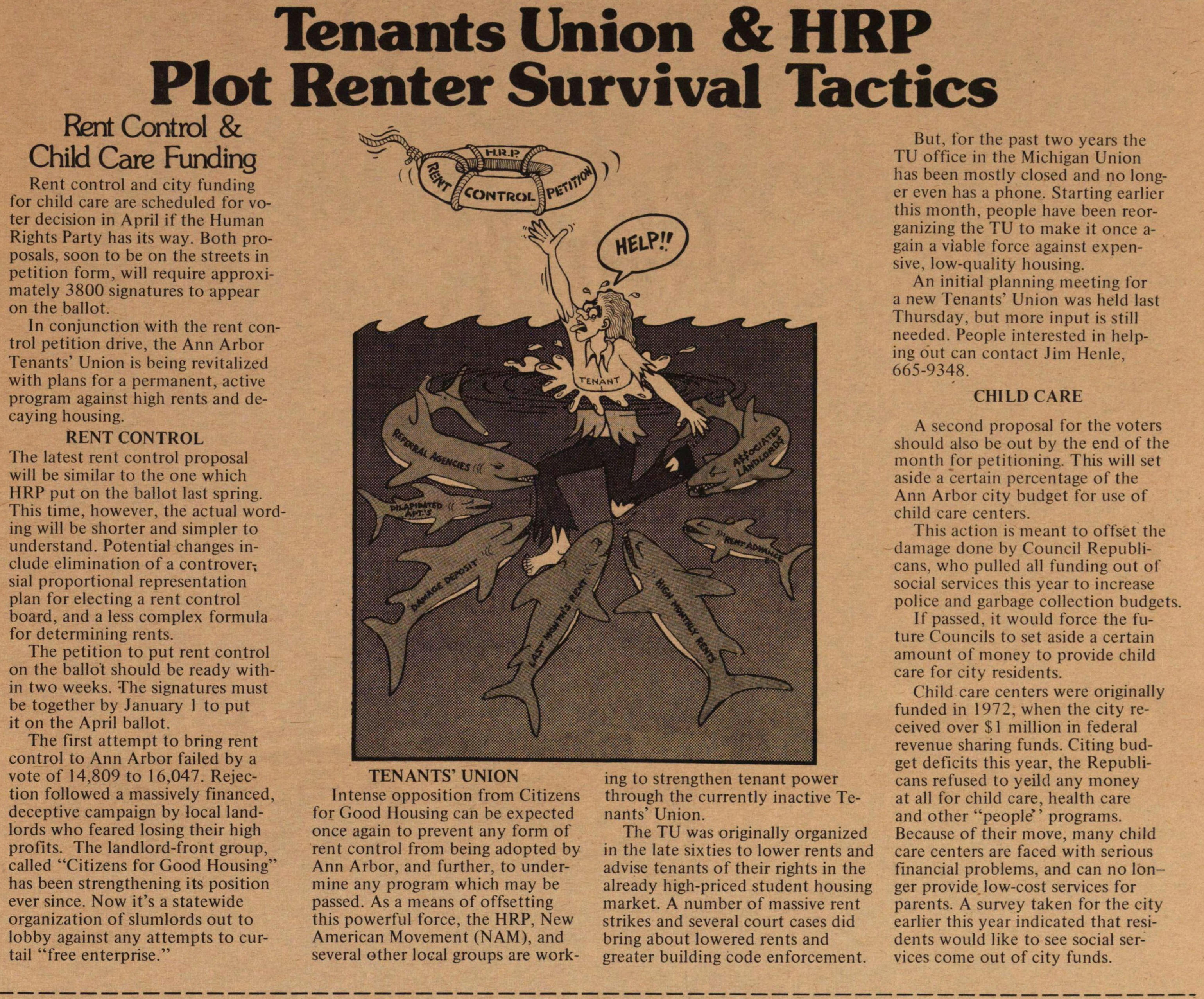Tenants Union & Hrp Plot Renter Survival Tactics image