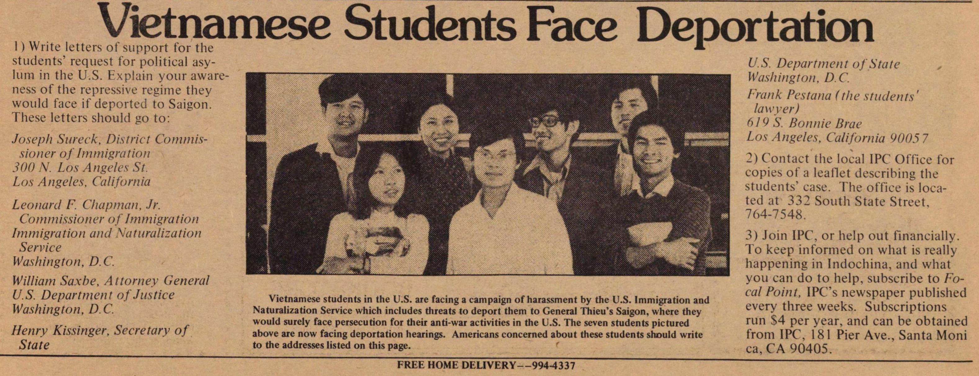 Vietnamese Students Face Deportation   Ann Arbor District