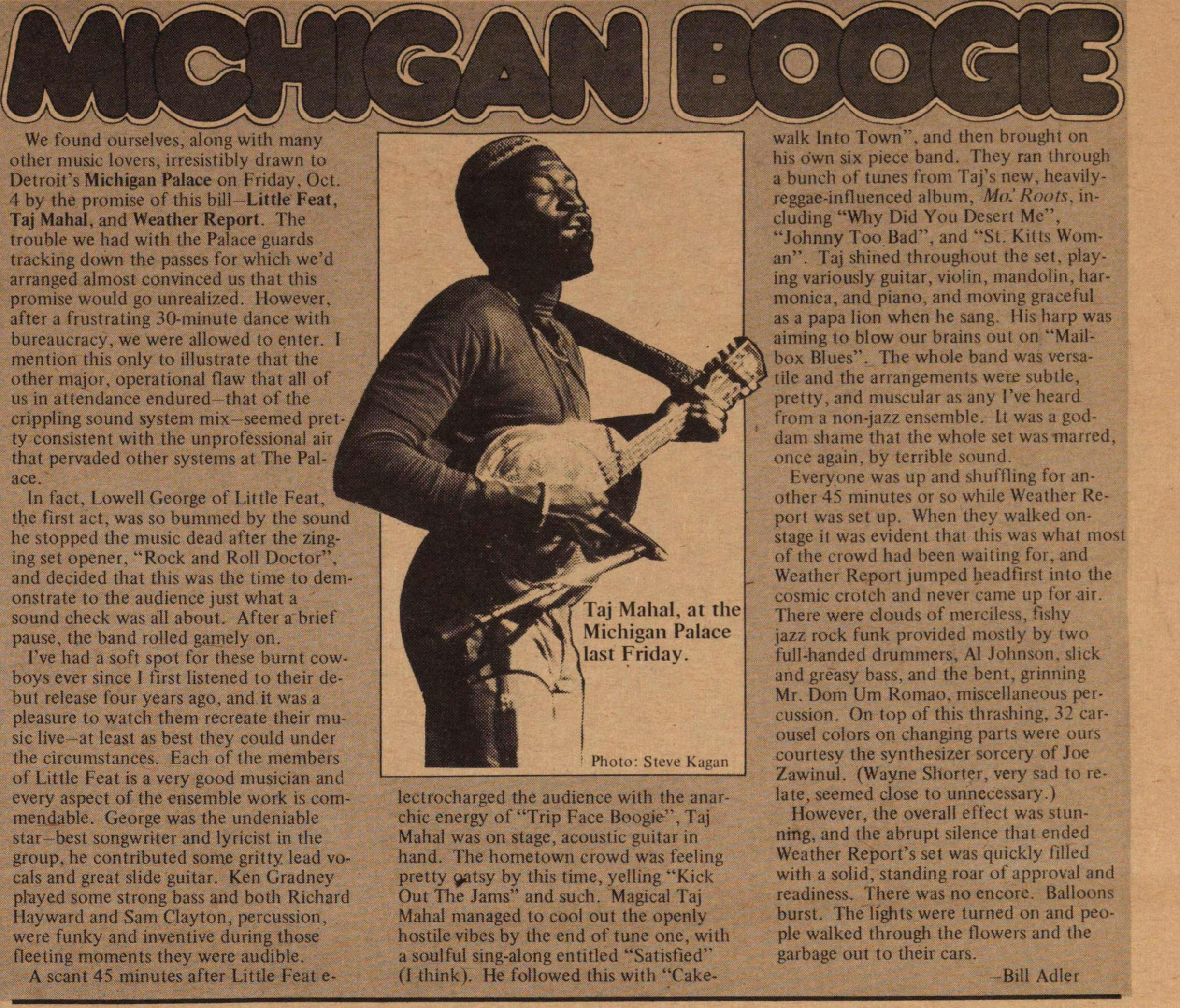 Michigan Boogie image
