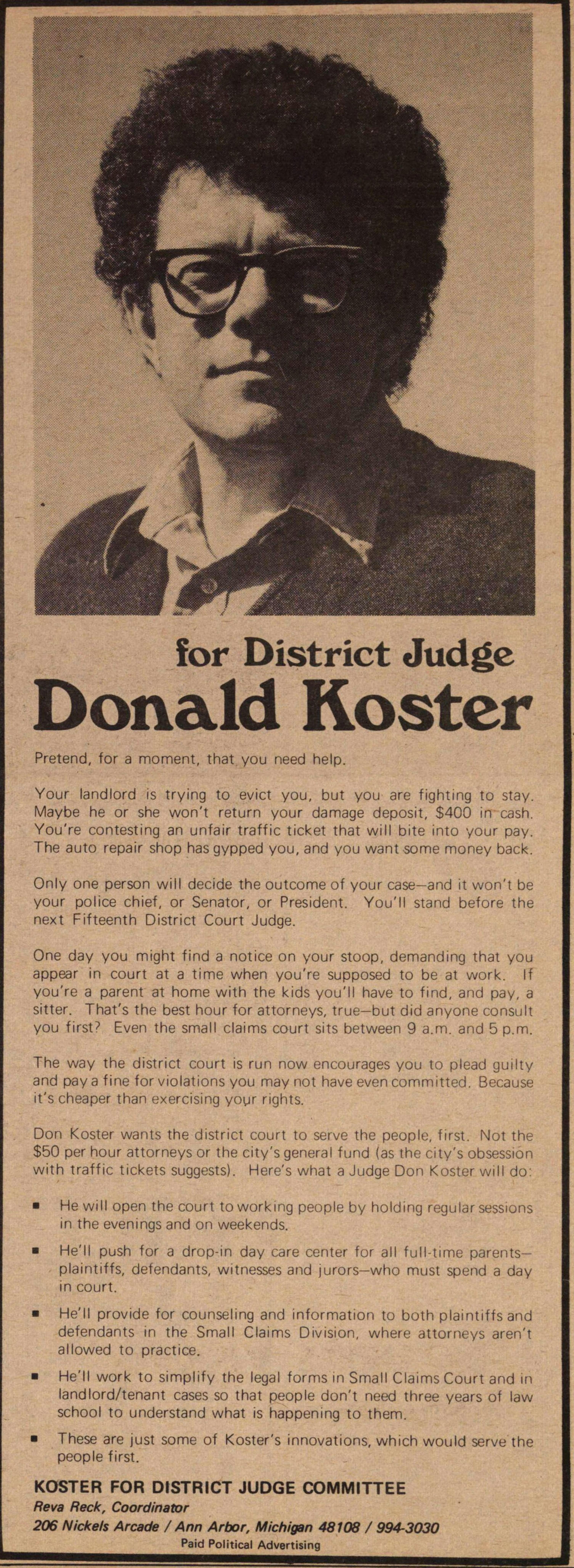 Donald Koster image
