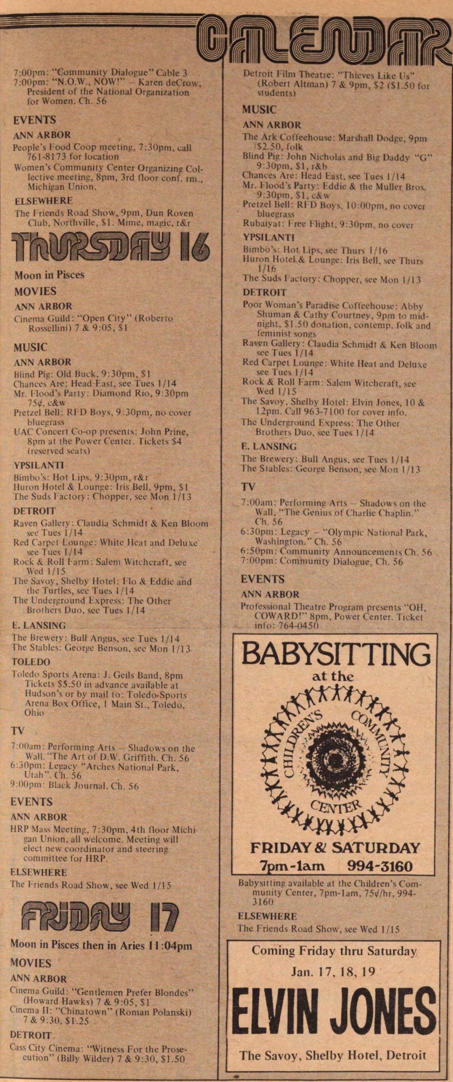 Calendar | Ann Arbor District Library