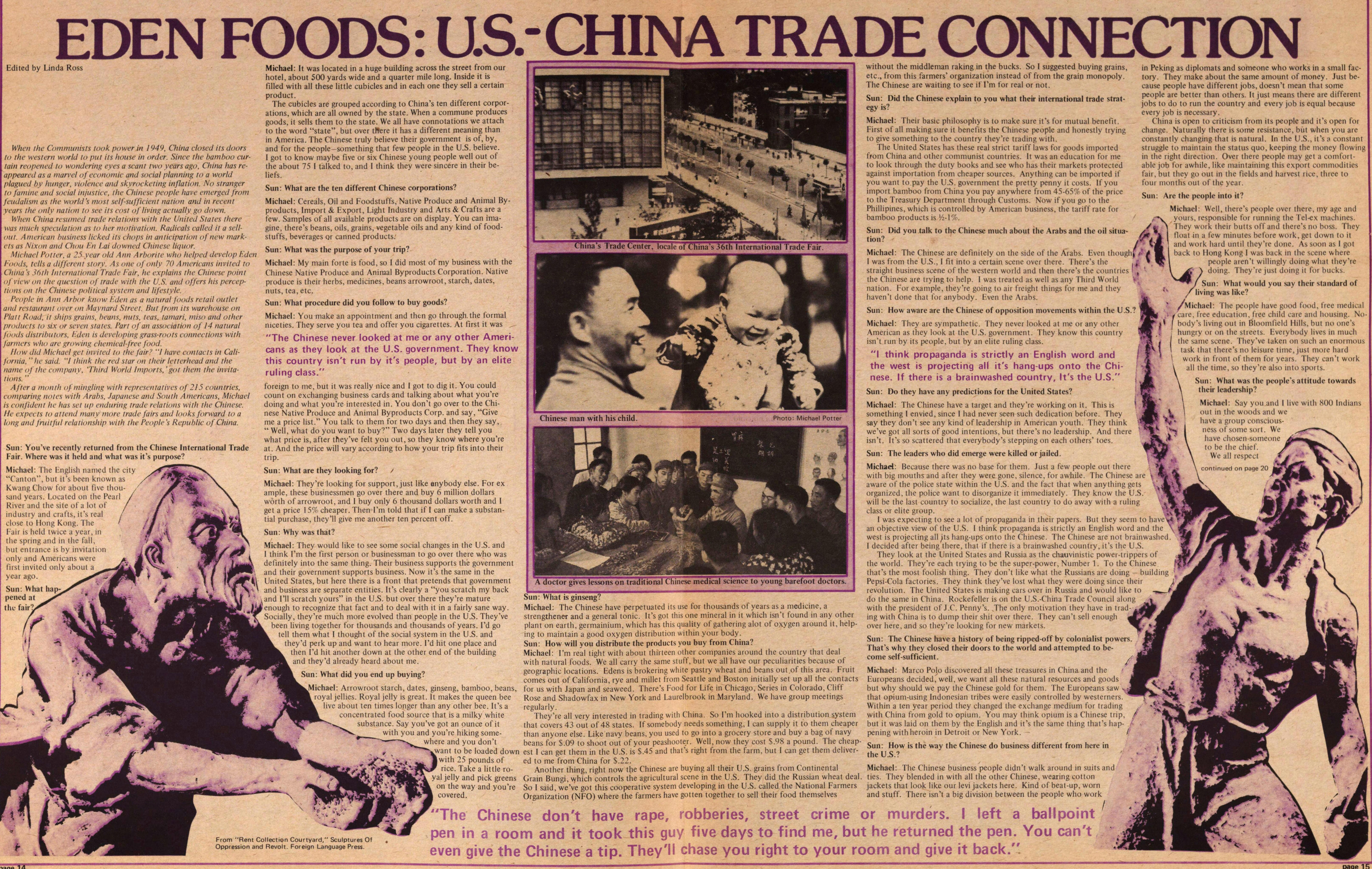 Eden Foods: Us.-china Trade Connection image