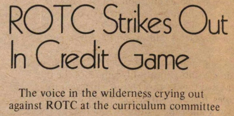 Rotc Strikes Out N Credit Game image