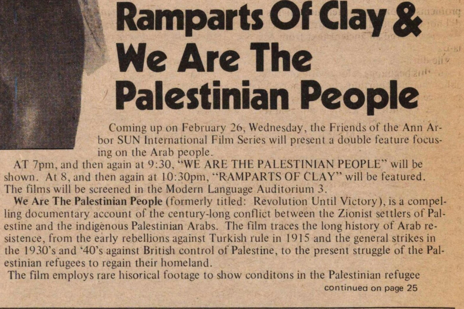 Ramparts Of Clay & We Are The Palestinian People image