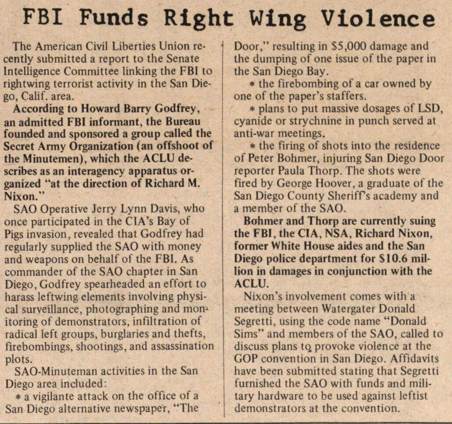 Fbi Funds Right Wing Violence image