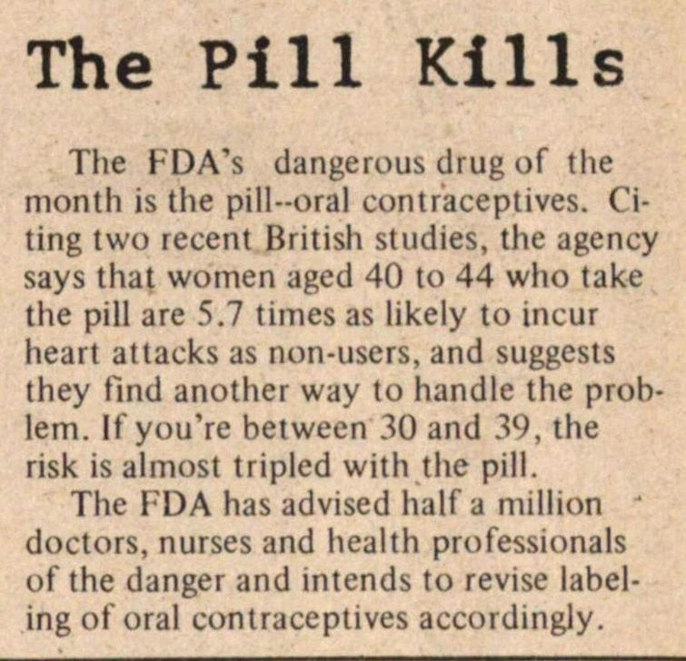 The Pill Kills image