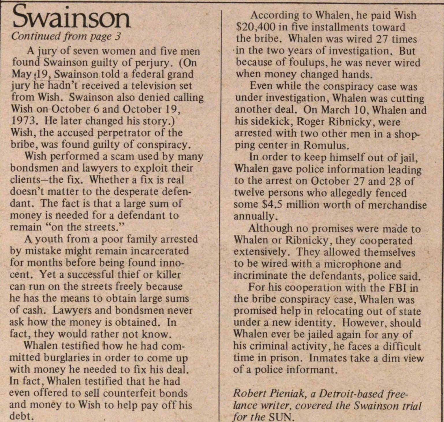 Swainson's Accuser; The Life & Times Of John J. Whalen image