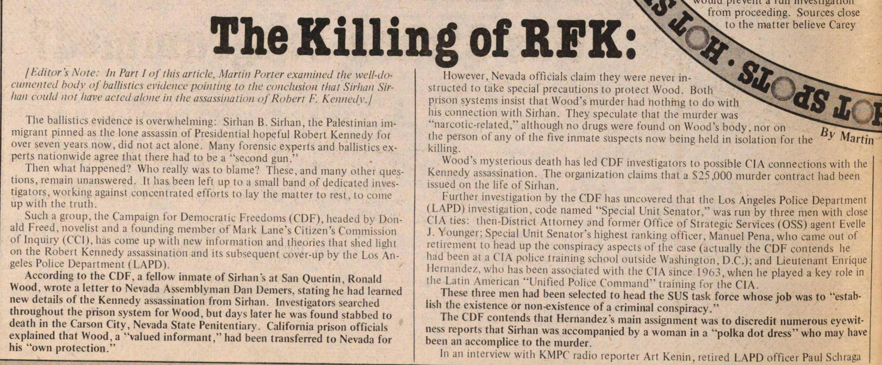 The Killing Of Rfk image