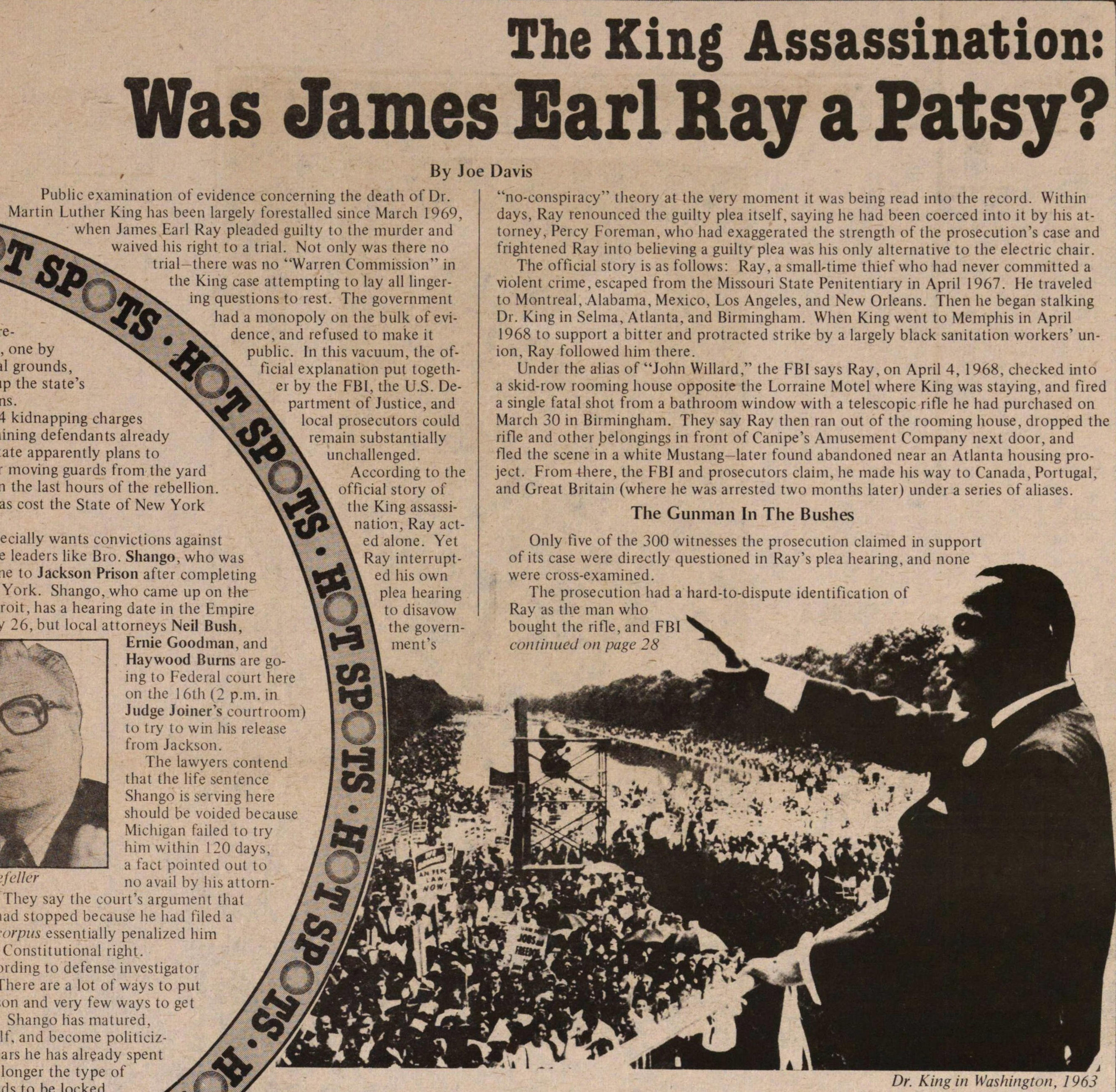 The King Assassination: Was James Earl Ray A Patsy? image