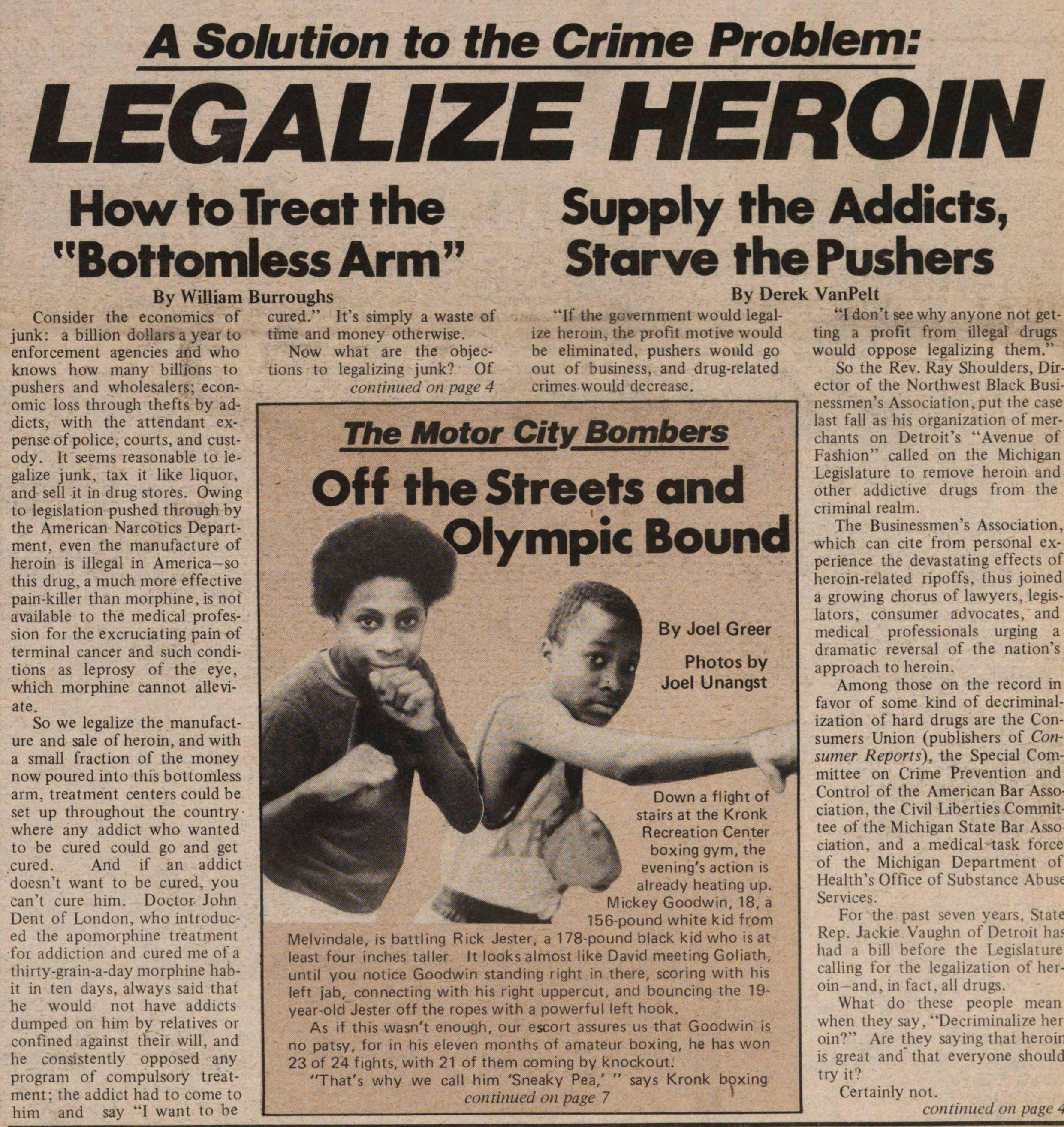 A Solution To The Crime Problem: Legalize Heroin image