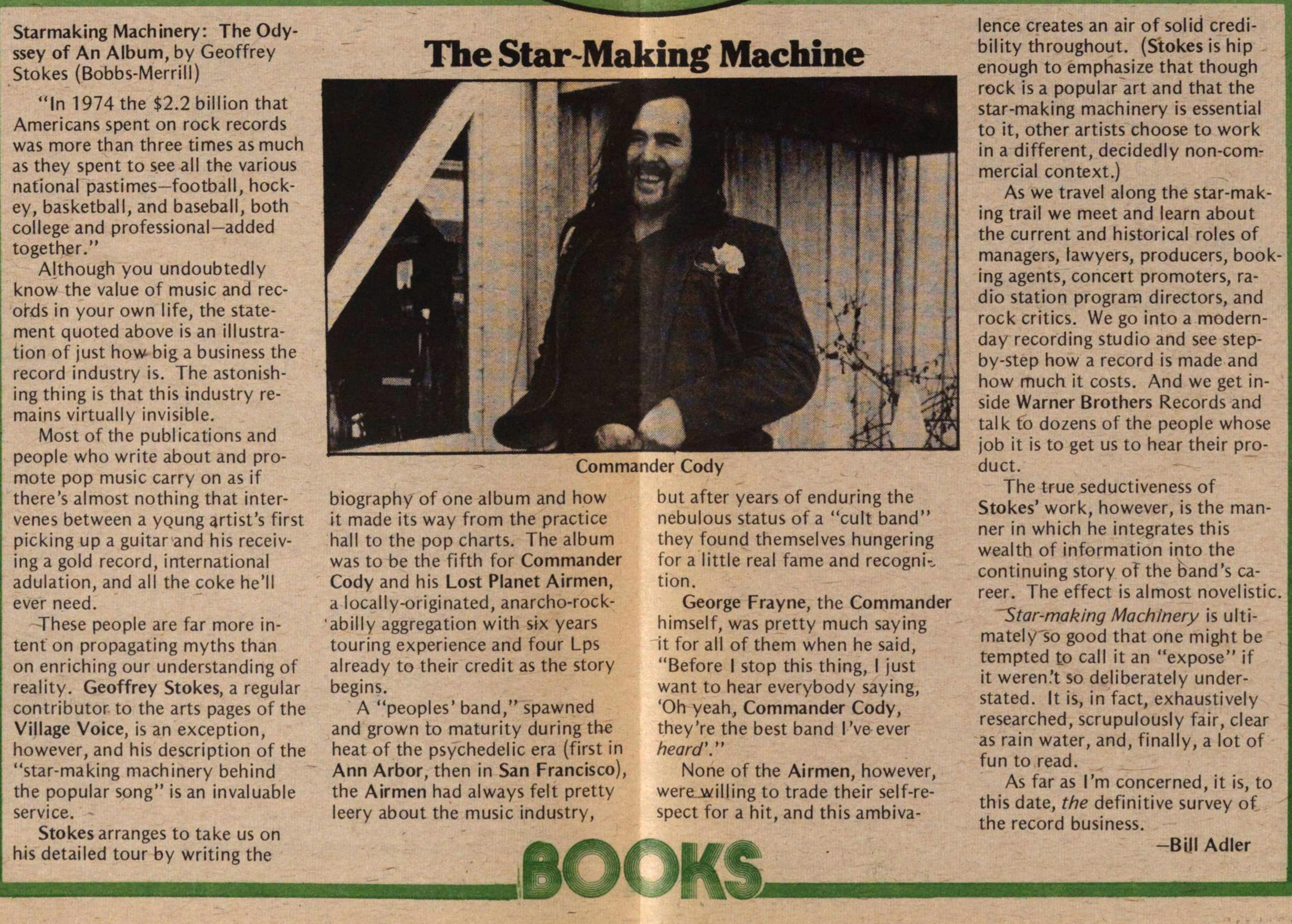 The Star Making Machine image