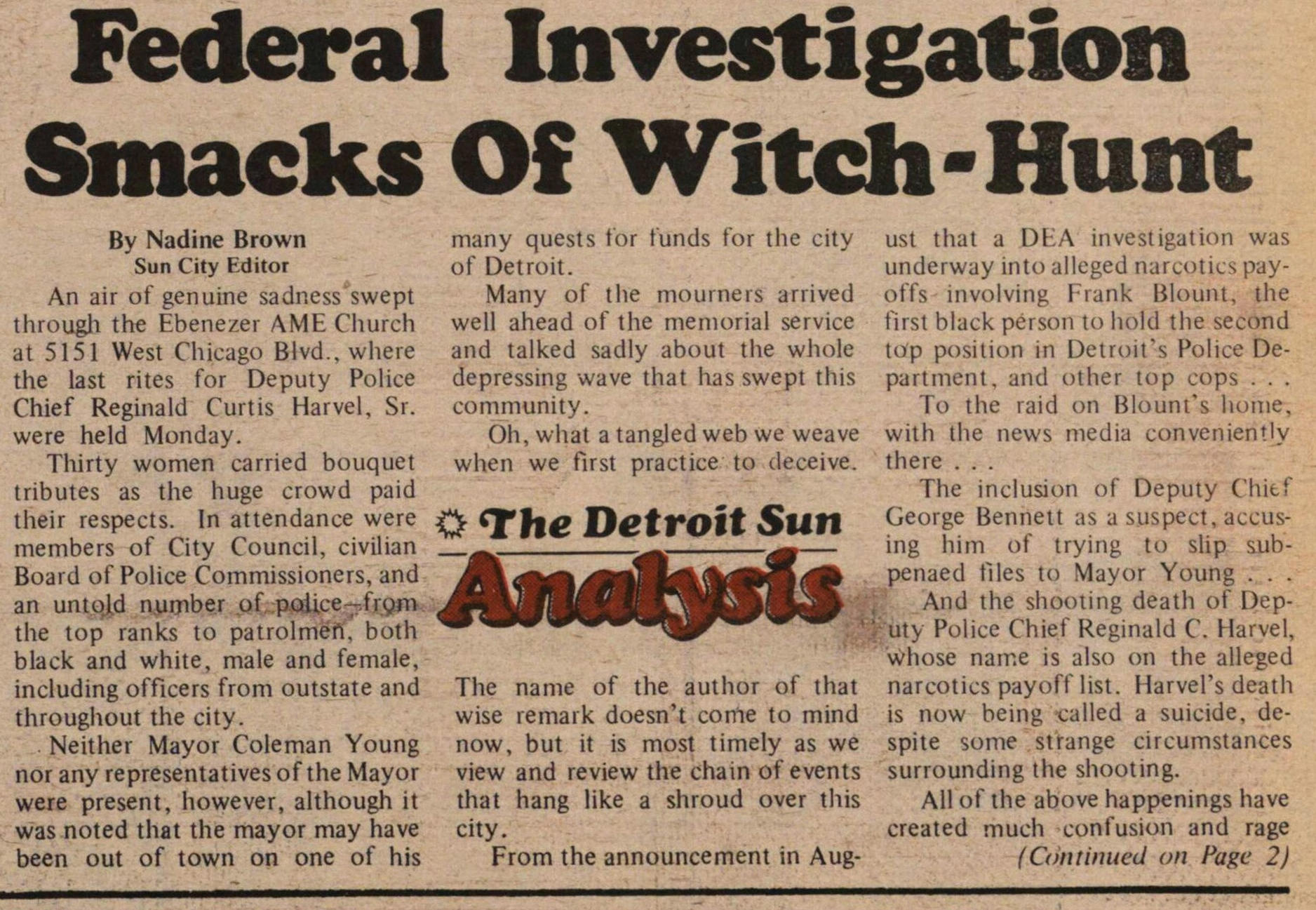 Federal Investigation Smacks Of Witch-hunt image