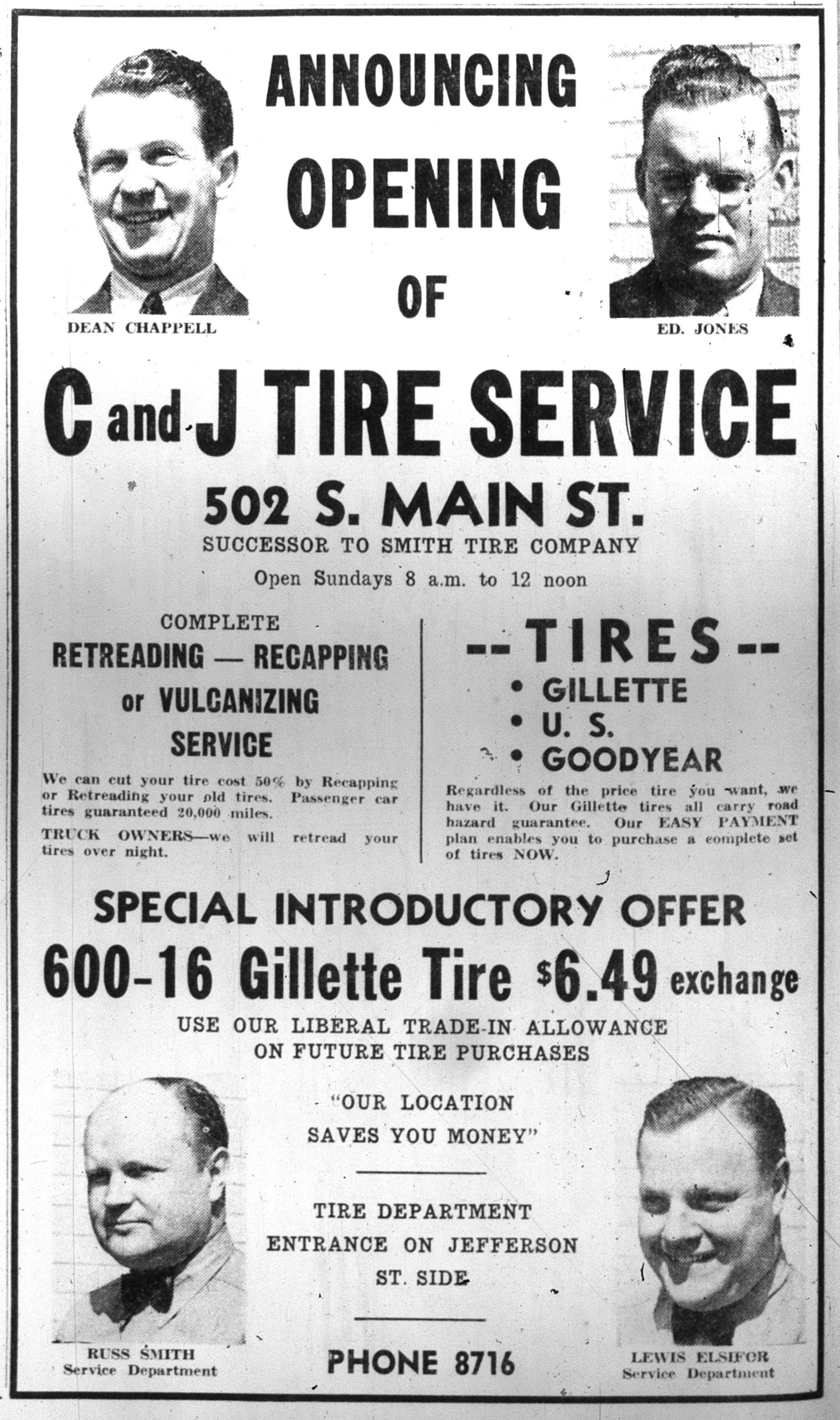 C and J Tire Service image