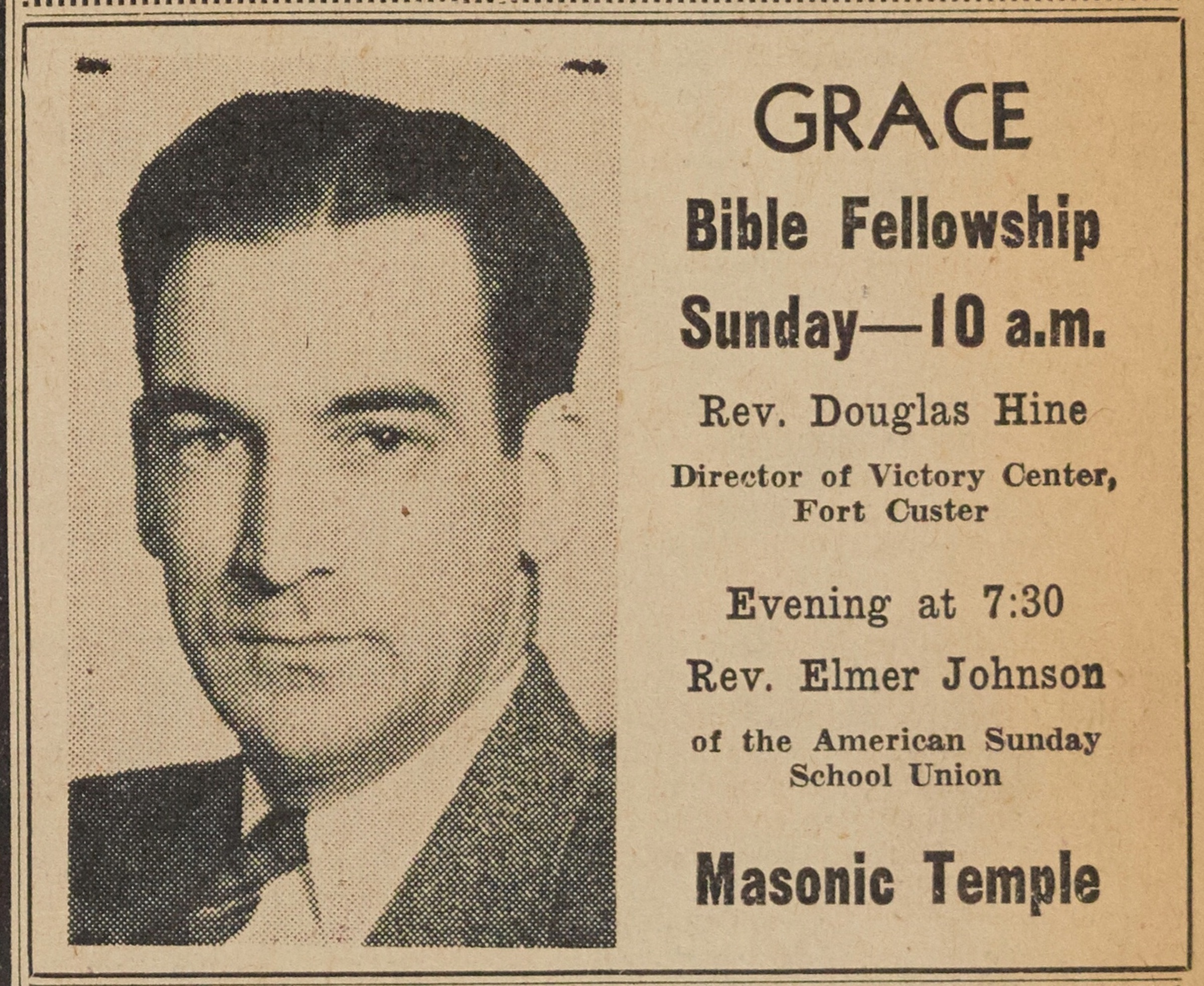 Grace Bible Fellowship, April 1944 image