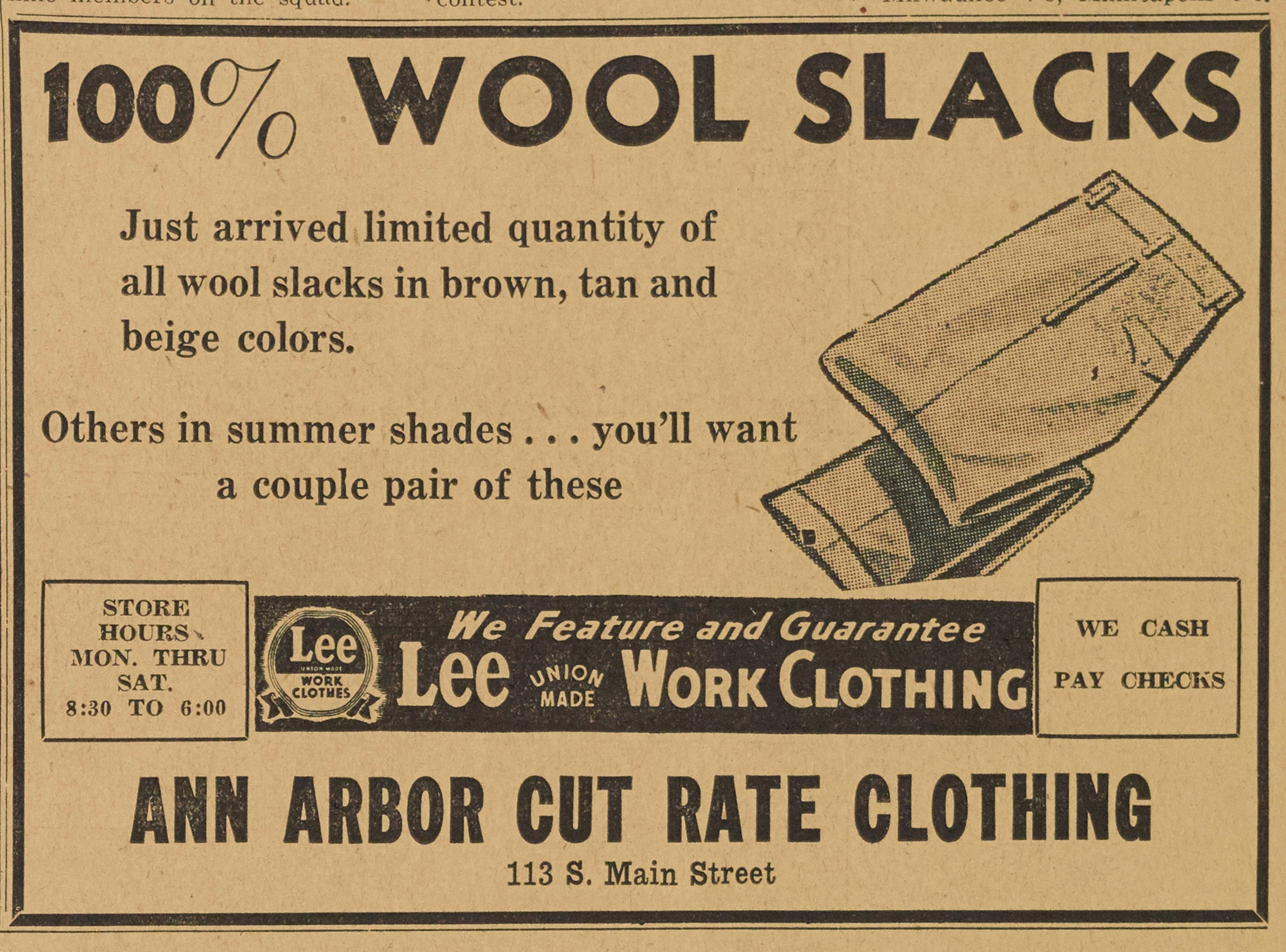 Ann Arbor Cut Rate Clothing image