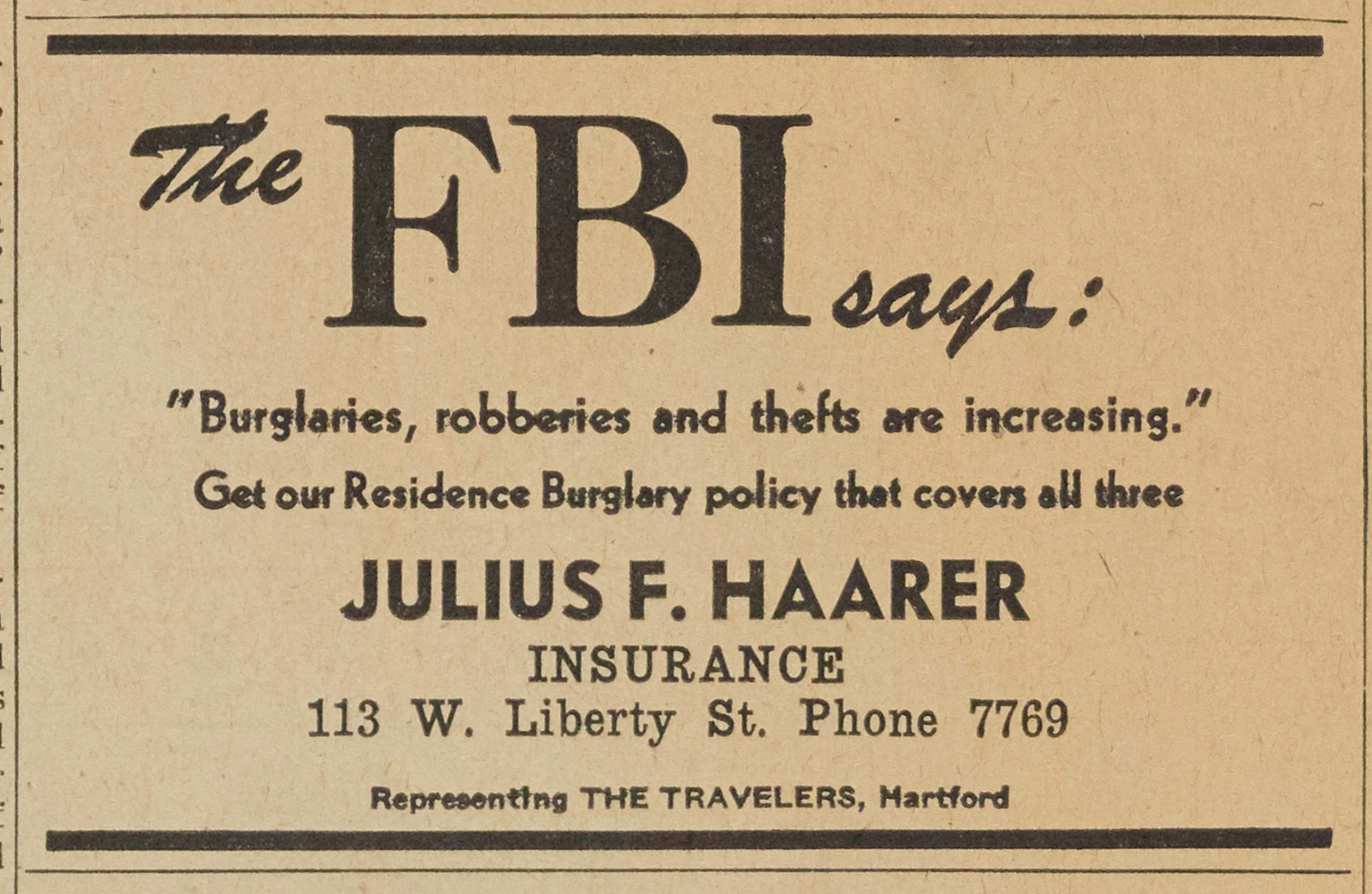 Julius F. Haarer - Insurance image