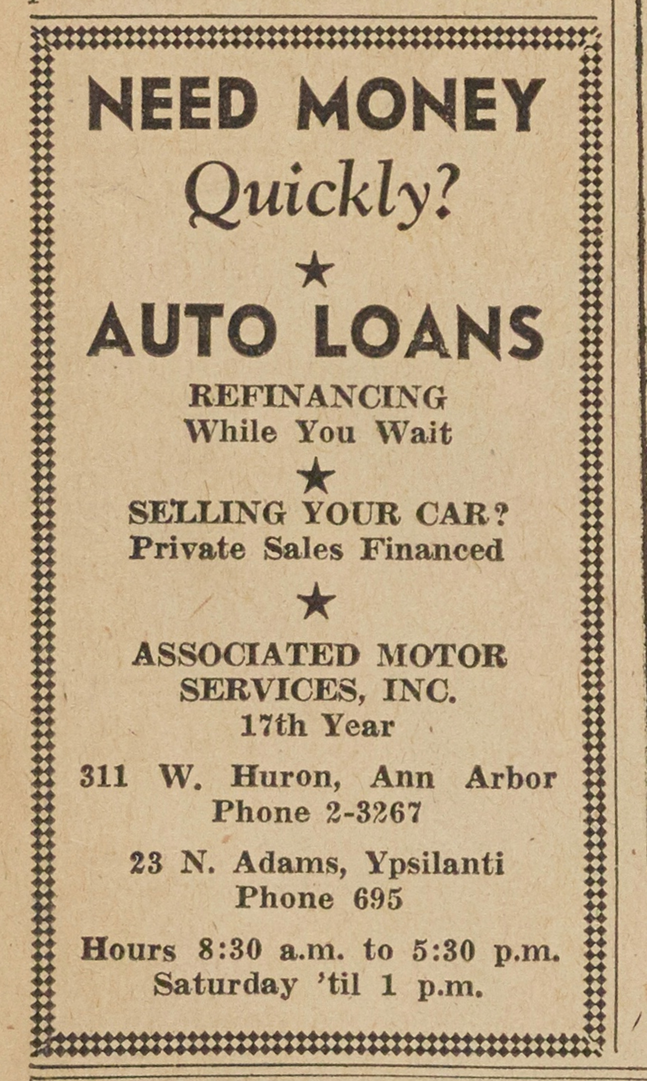 Associated Motor Services Inc. image