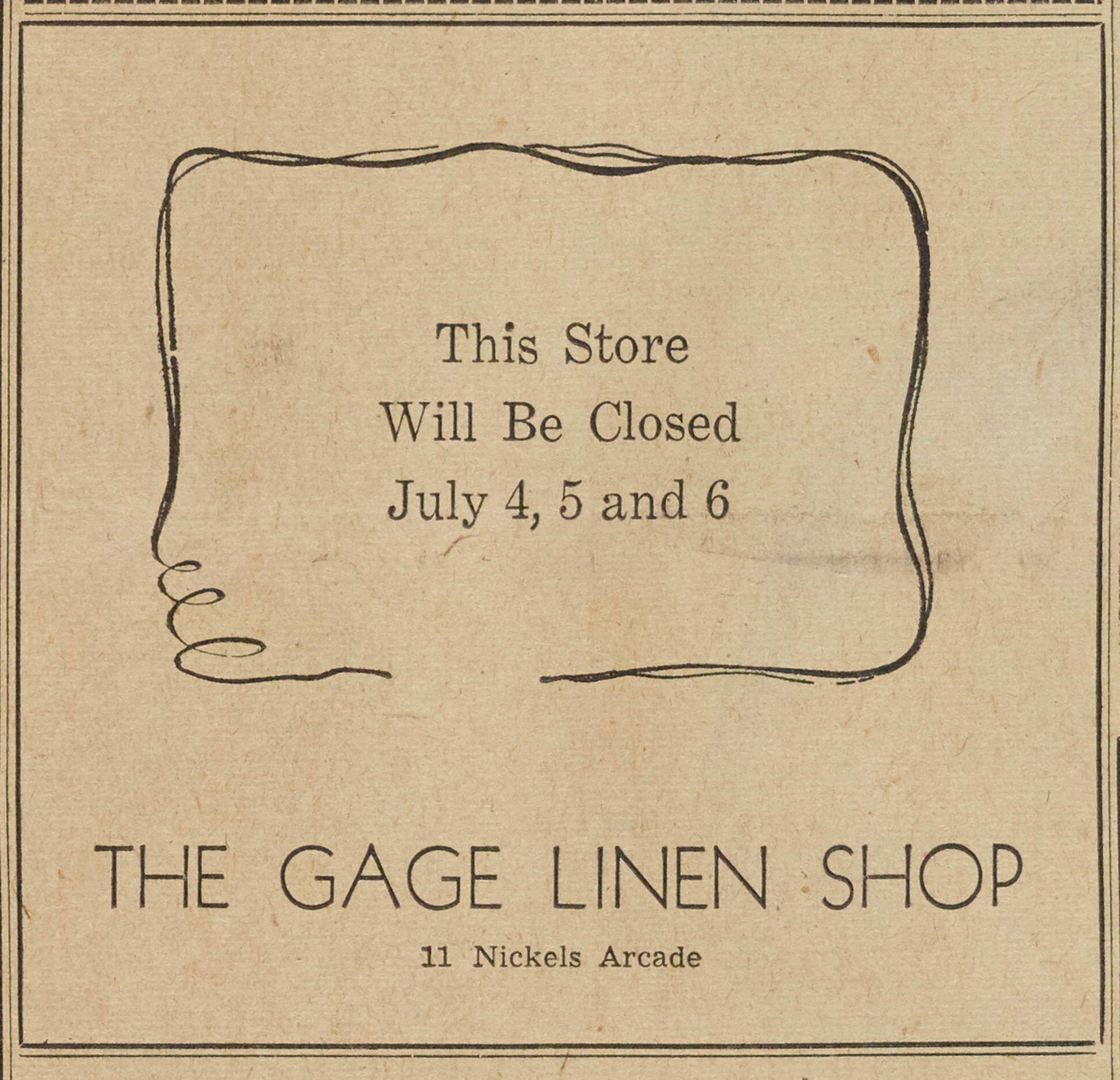 The Gage Linen Shop image