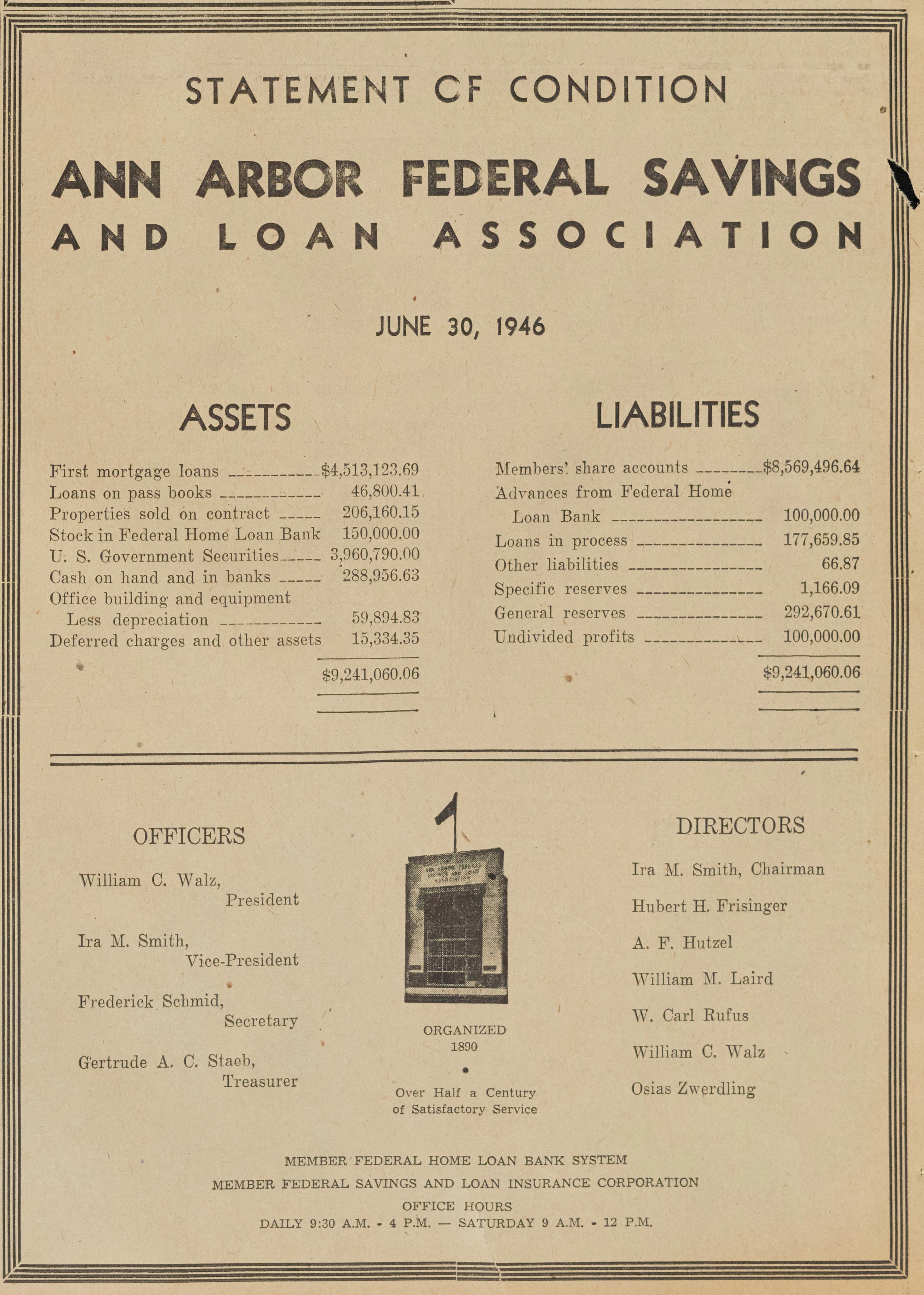 Ann Arbor Federal Savings And Loan Association image
