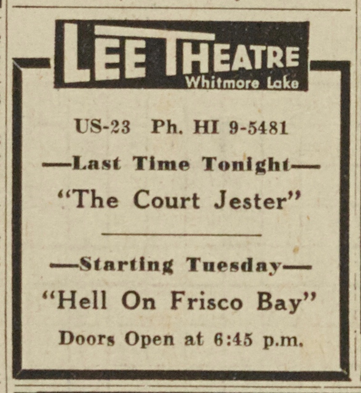 Lee Theatre image