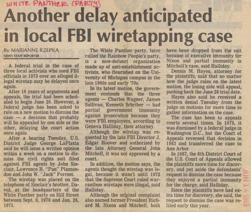 Another delay anticipated in local FBI wiretapping case image