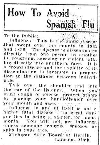 How To Avoid Spanish Flu image