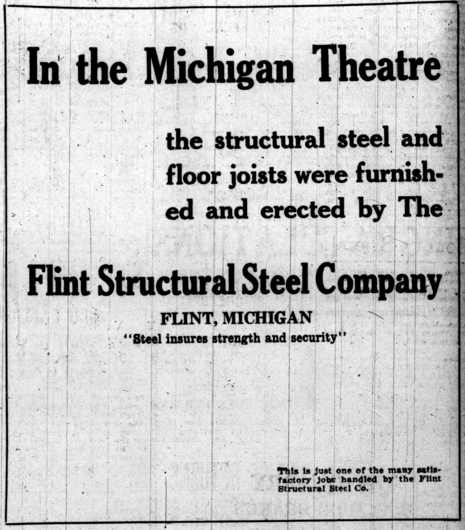 Flint Structural Steel Company [advertisement] image