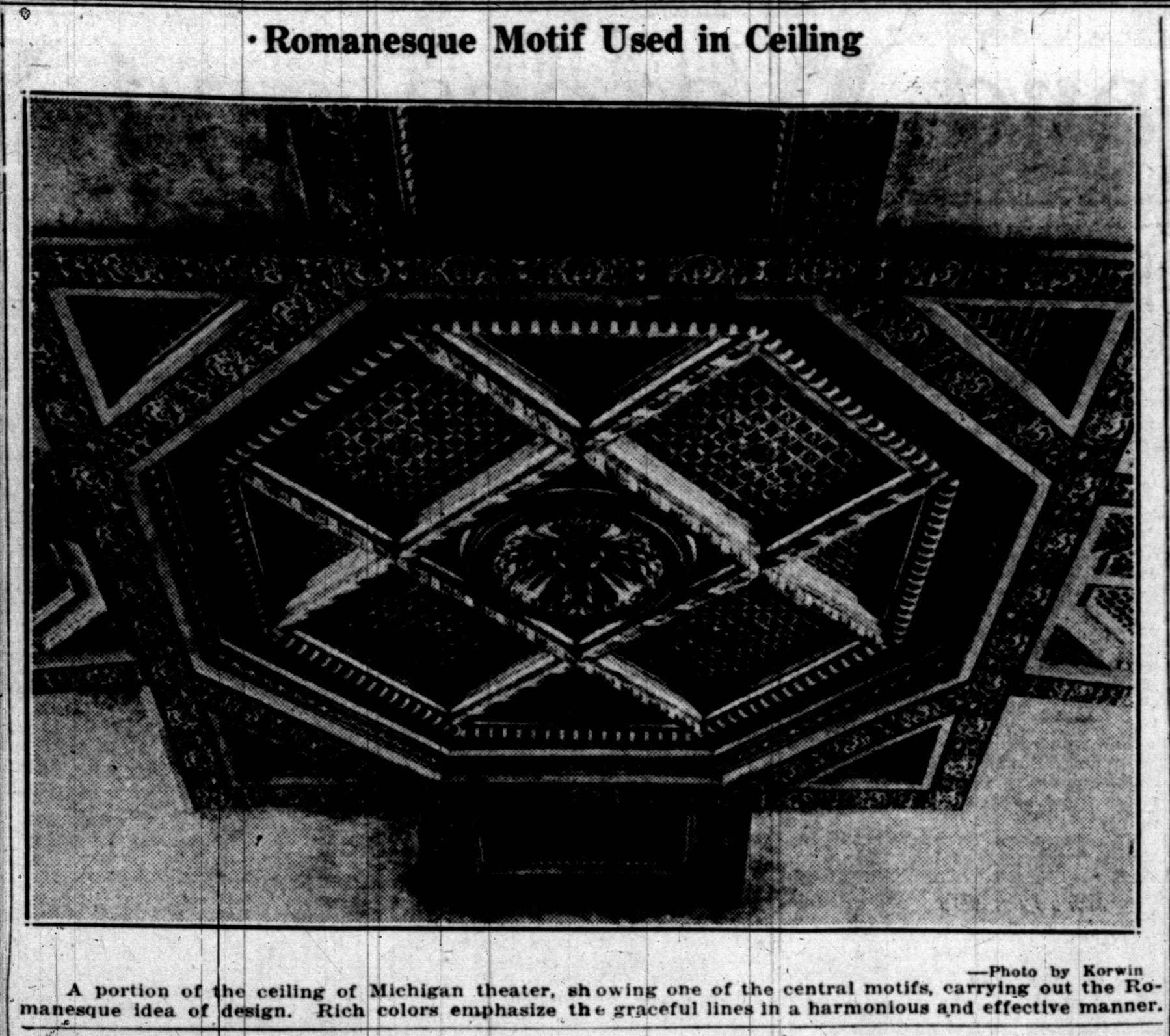 Romanesque Motif Used In Ceiling image