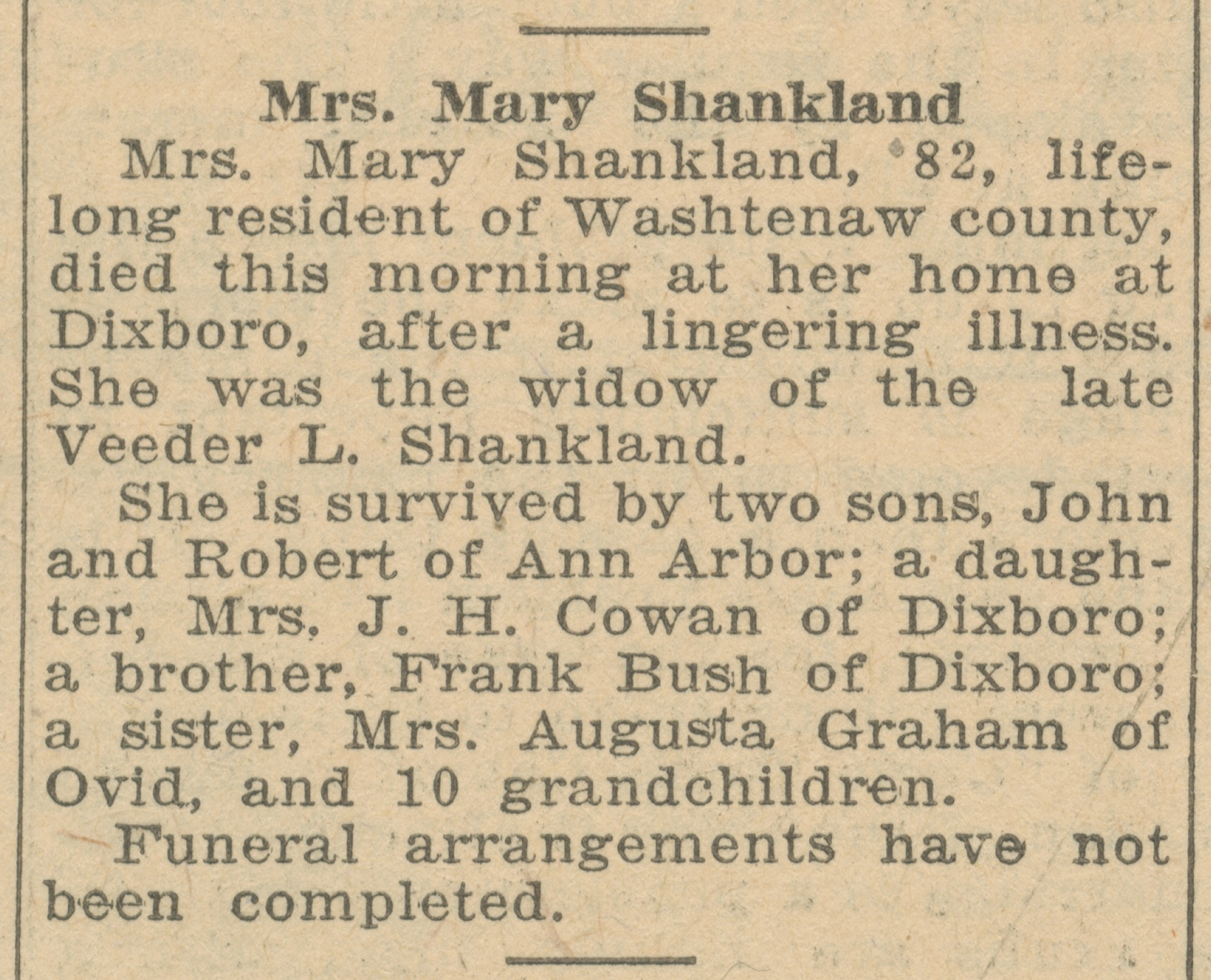 Mrs. Mary Shankland image