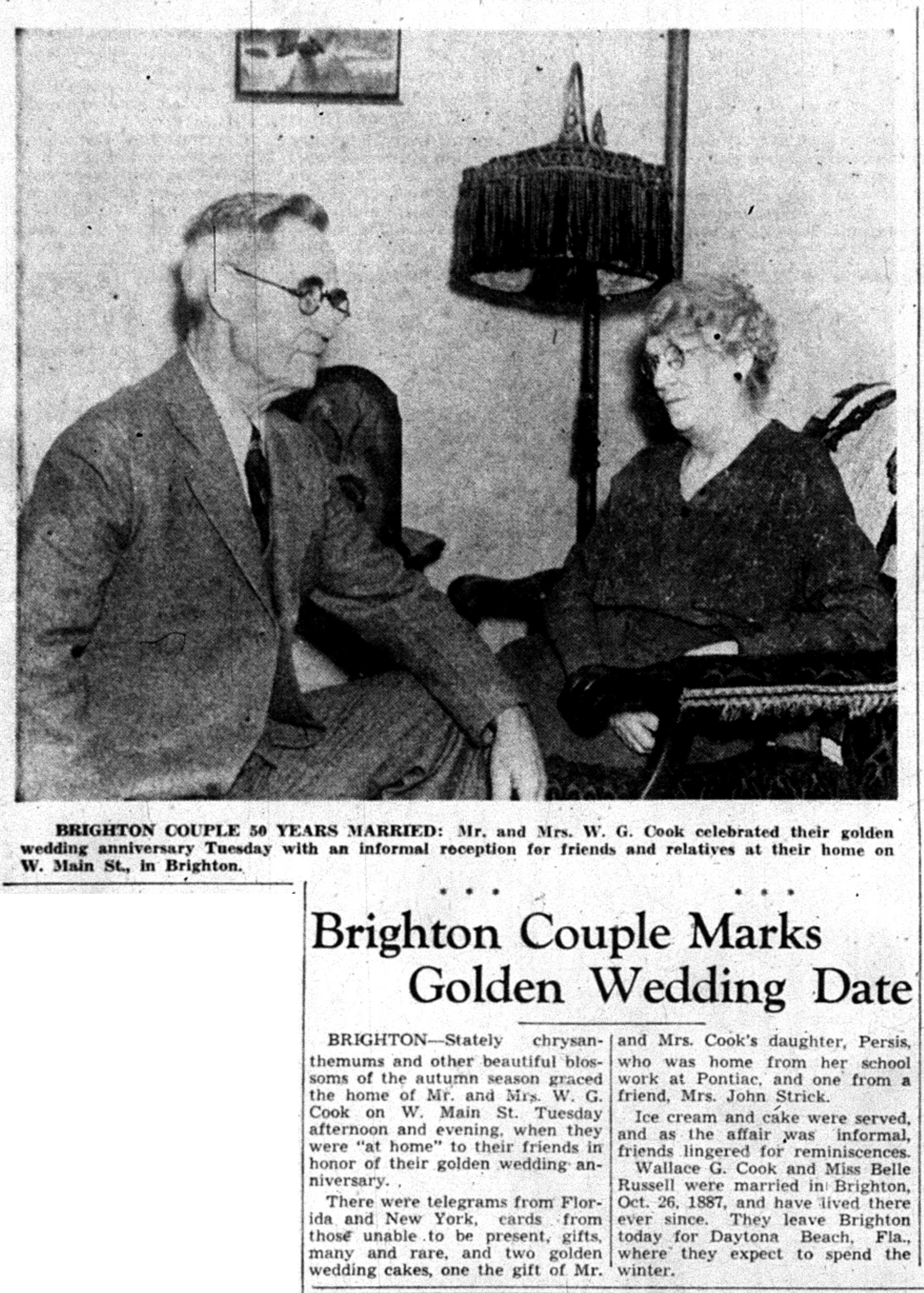 Brighton Couple Marks Golden Wedding Date image