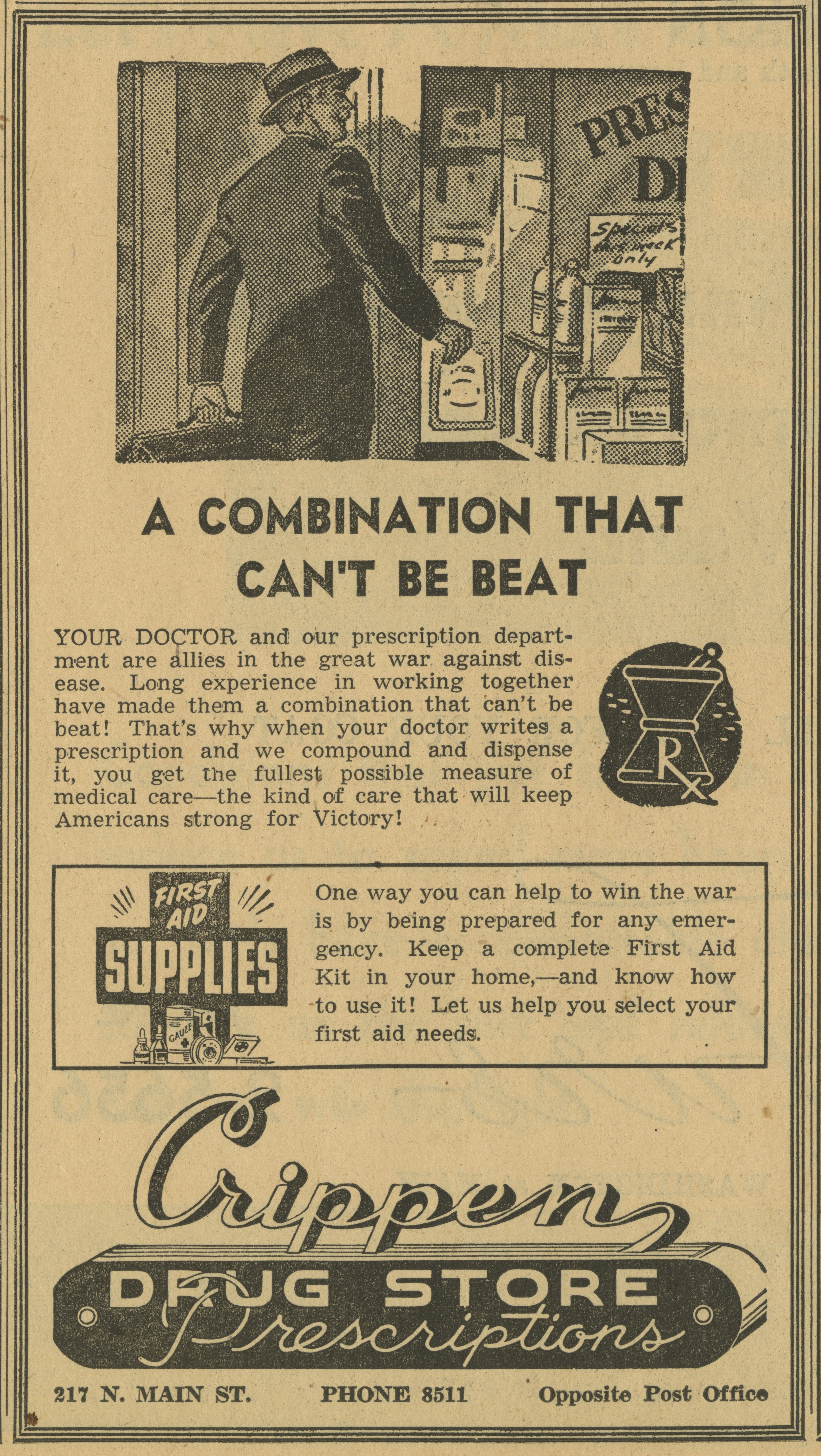 Crippen Drug Store [advertisement] image