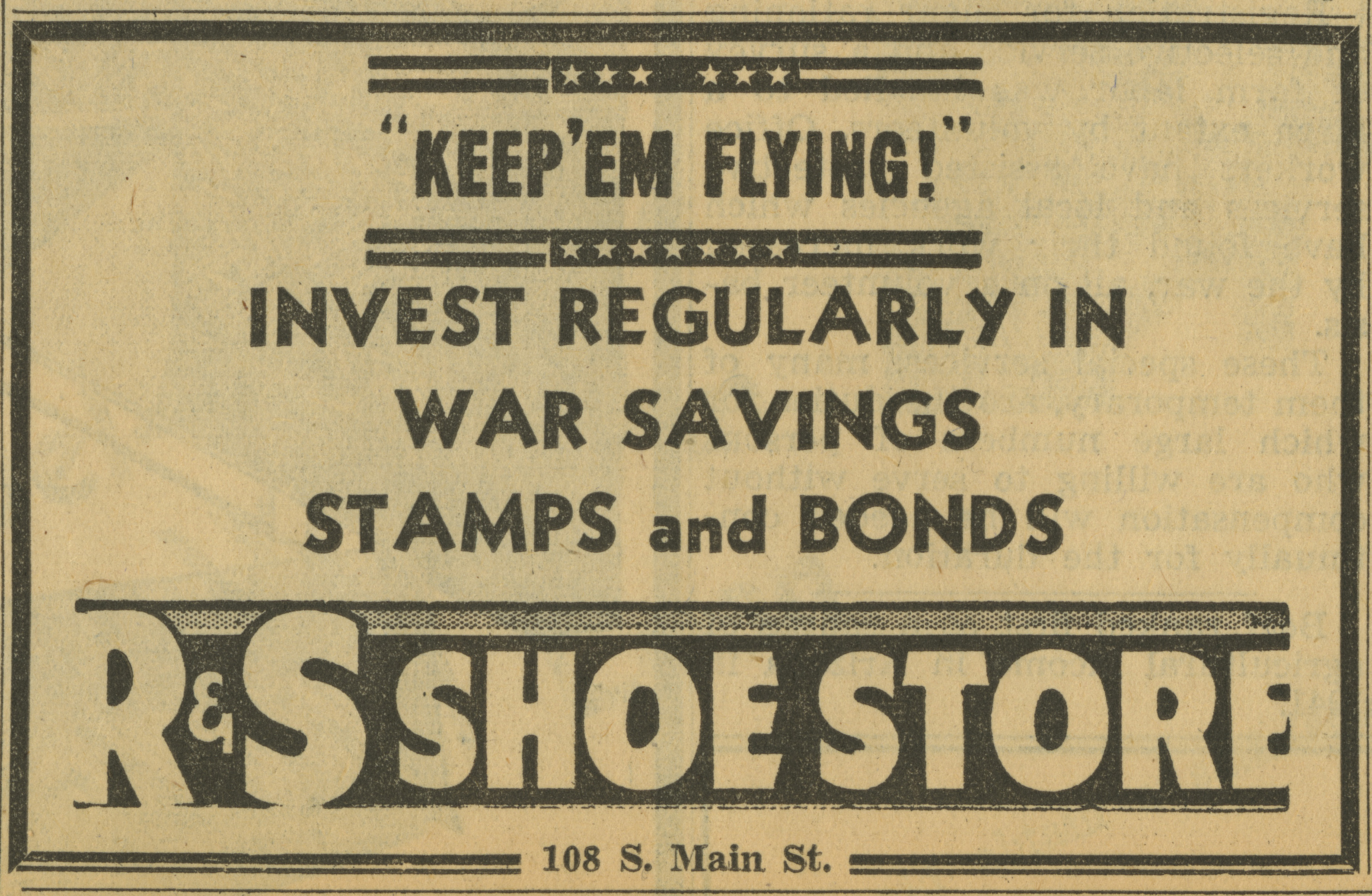 R & S Shoe Store [advertisement] image